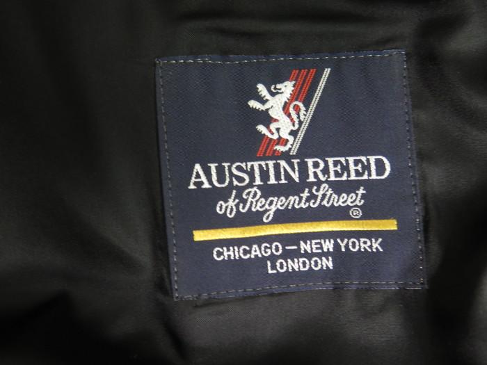 Austin Reed De Regent St Negro Poliester Algodon Gabardina De Hombre Talla 42l Ebay