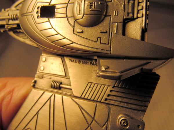 1991 Franklin Mint Star Trek Pewter Klingon Battle Cruiser
