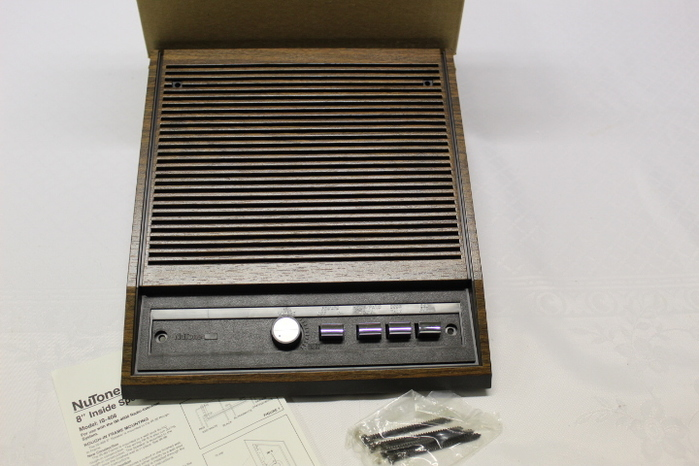 "Brand New Nutone IS-408WH Indoor 8/"" Radio-Intercom Inside Speaker"