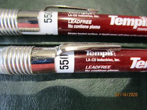 2 Tempilstik 375 Degree Welding Crayons