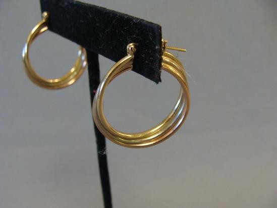 Vintage Modern 14k Gold tri-color Twist 1