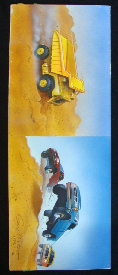 'Monster Trucks' Original Concept Art Airbrush Painting Art By Greg Winters