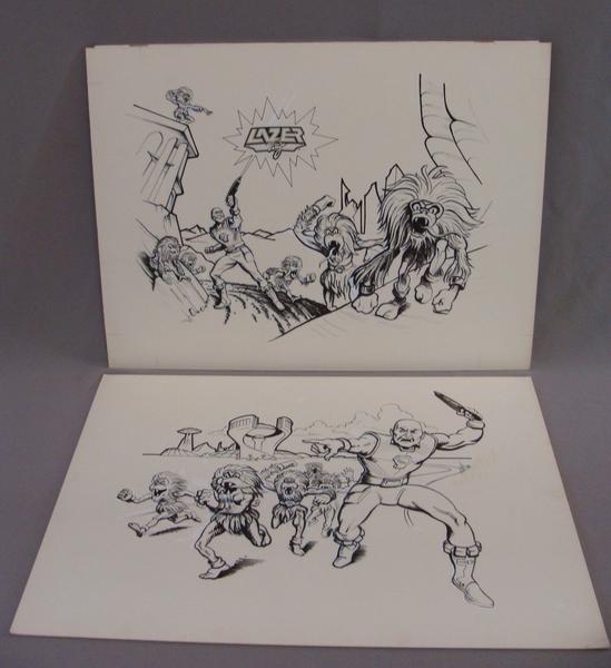 Original set of  Lazer Tag Academy Cartoon Video Game Series Art Greg Winters