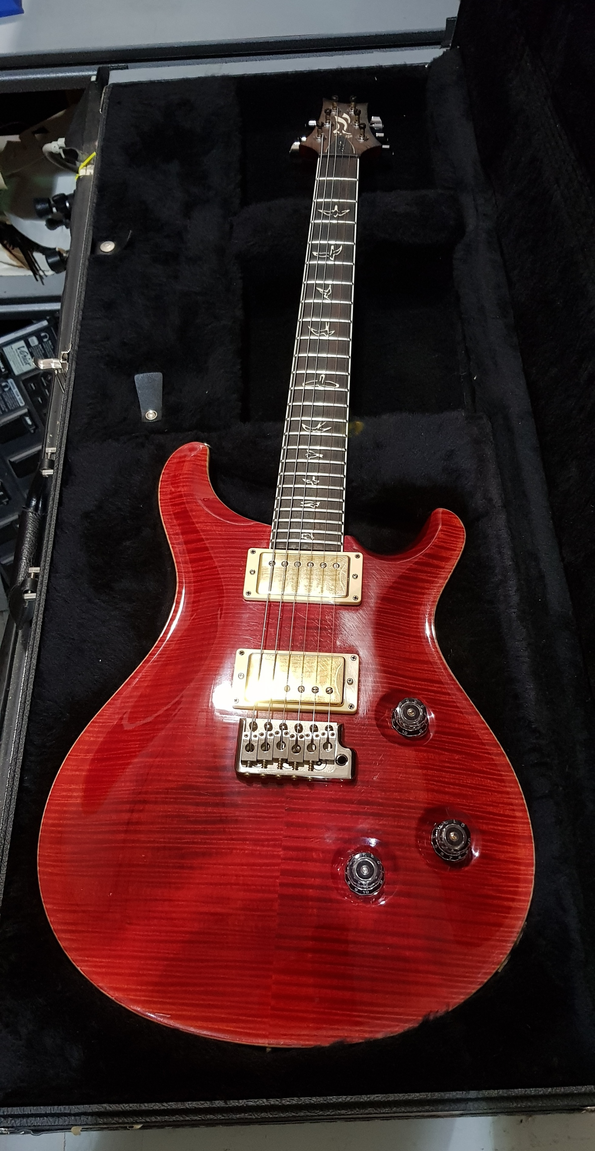 2010 PRS CUSTOM 24 10 TOP 25th Anniversary Electric Guitar Scarlet Red HSC