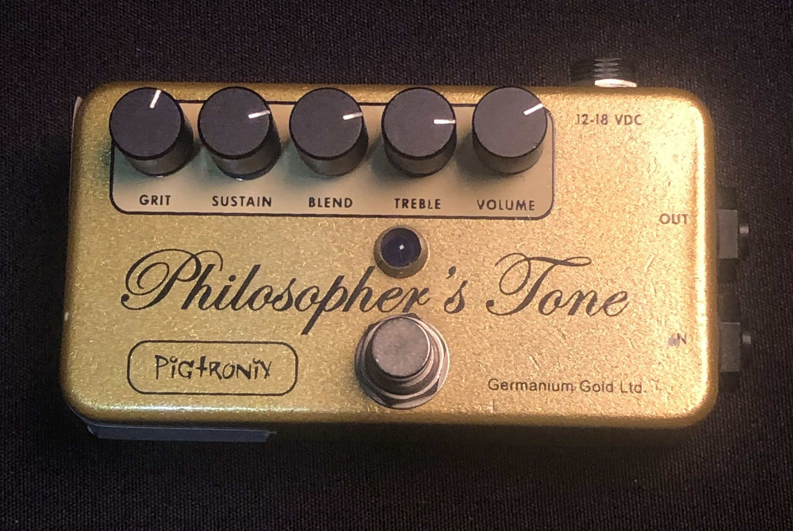 PIGTRONIX - Philosopher's Tone Germanium Gold Pedal