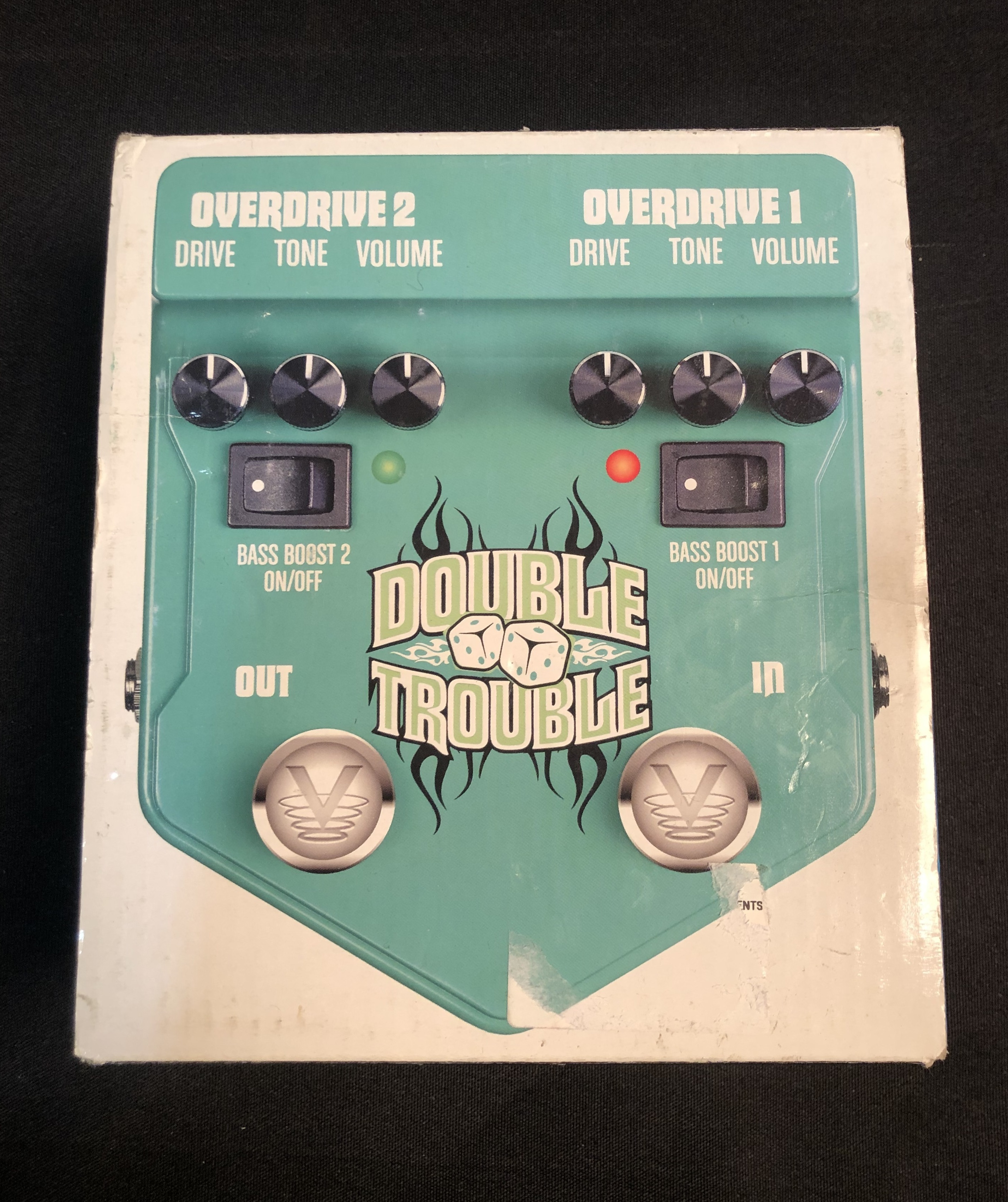 VISUAL EFFECTS - V2DT Double Trouble Dual Overdrive Pedal