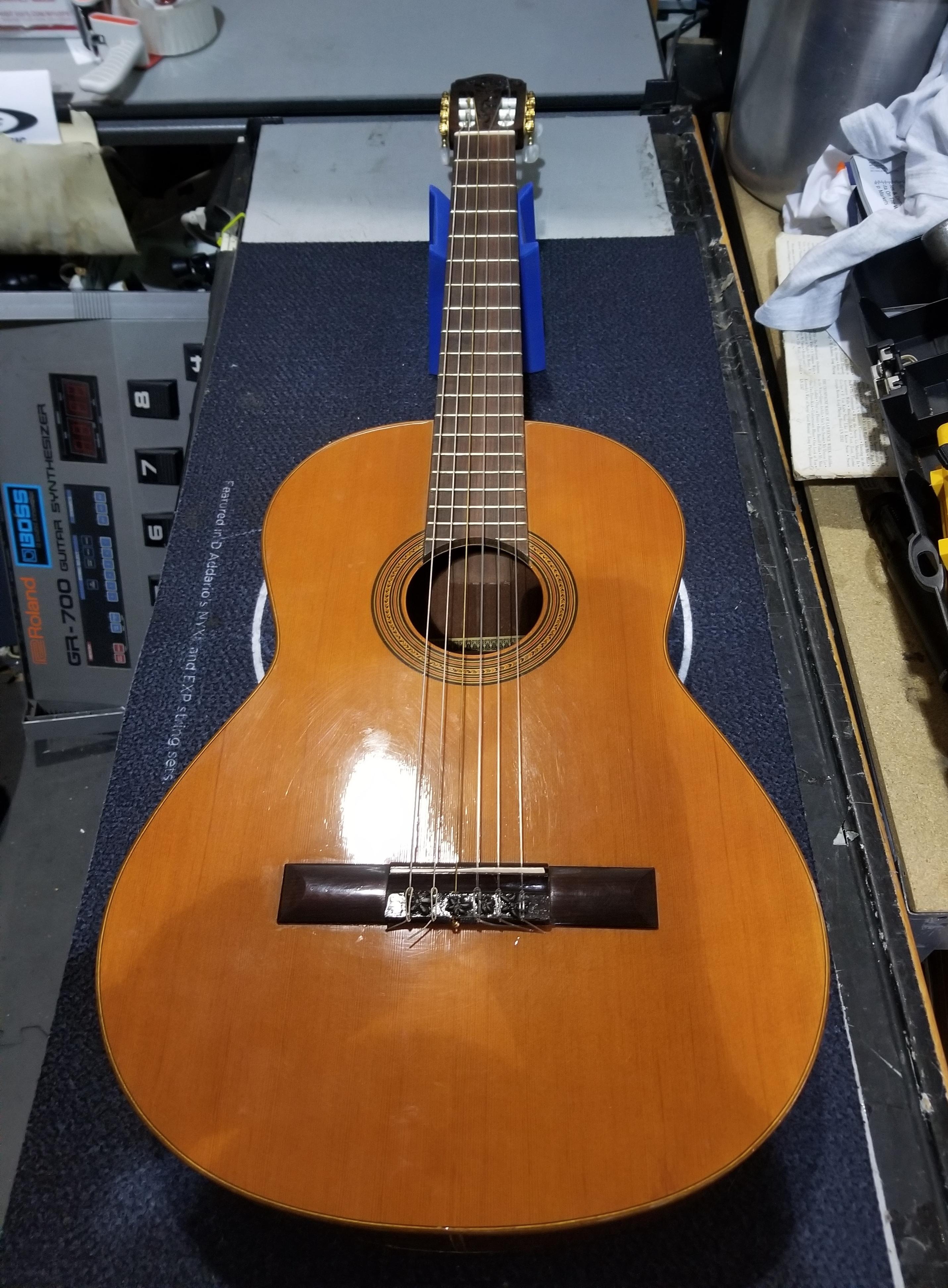 RAIMUNDO Spanish Classical Guitar with Case **AS-IS** Custom Artwork Headstock