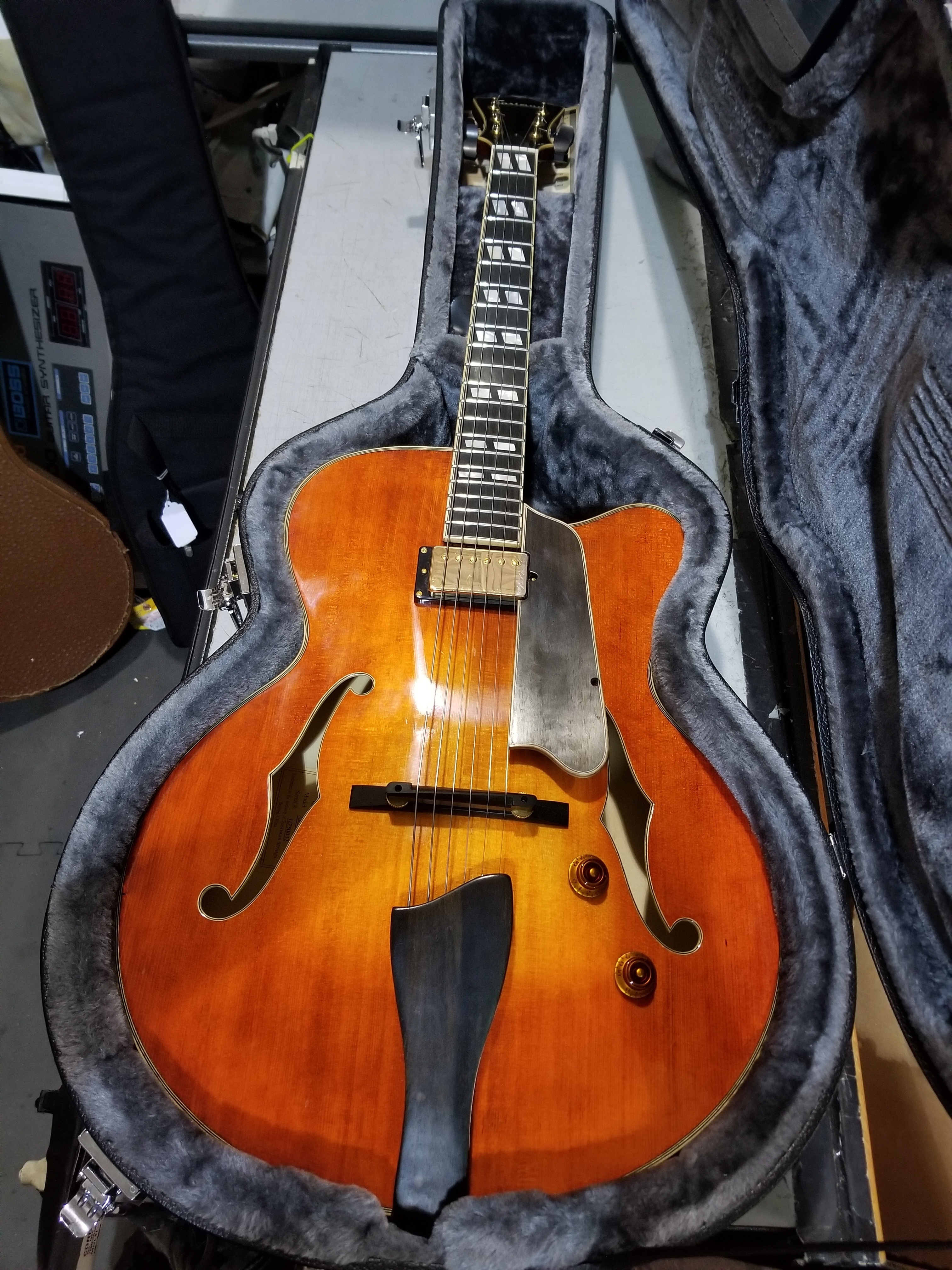 EASTMAN AR580CE-HB Archtop Hollow-body Electric Guitar HSC Honeyburst