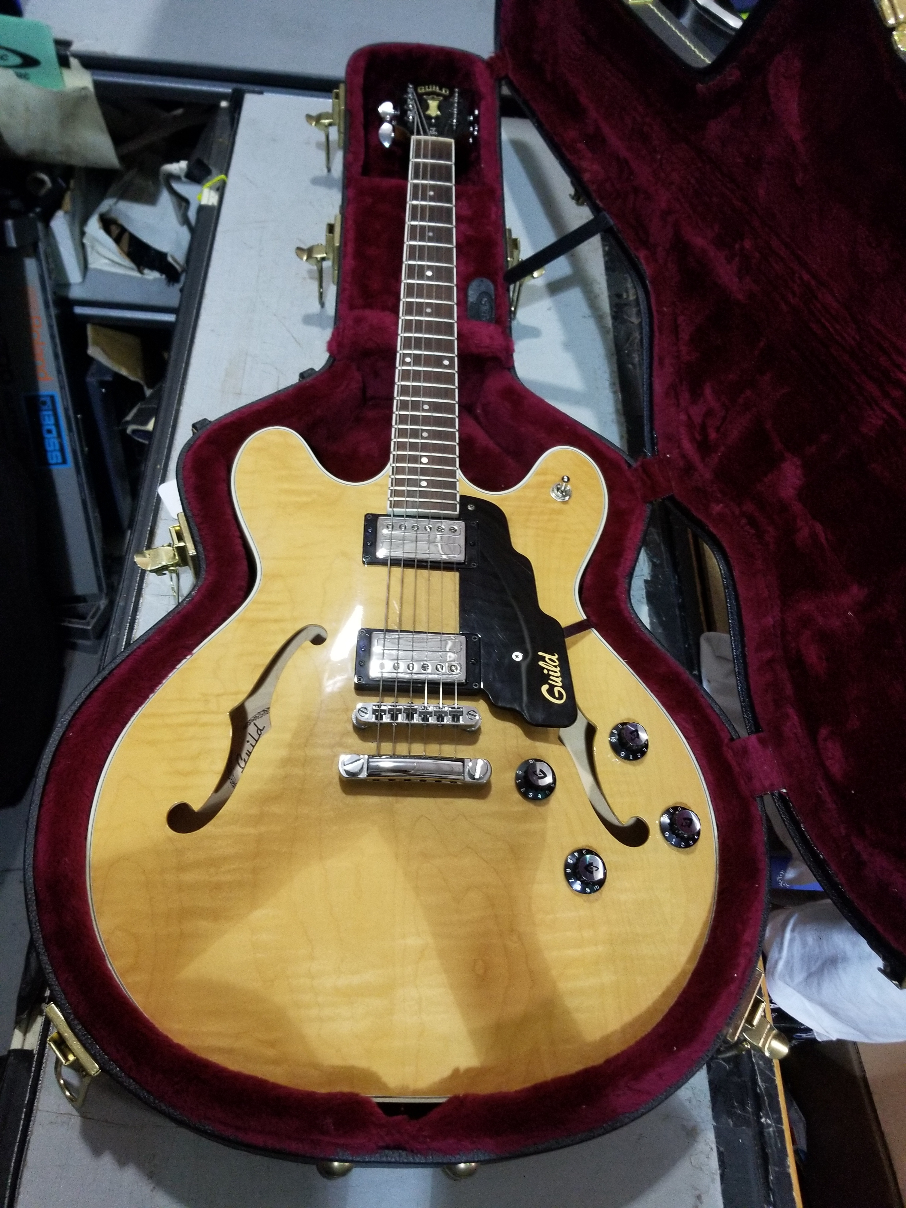 2003 GUILD STARFIRE IV Semi-Hollow Electric Guitar HSC Natural