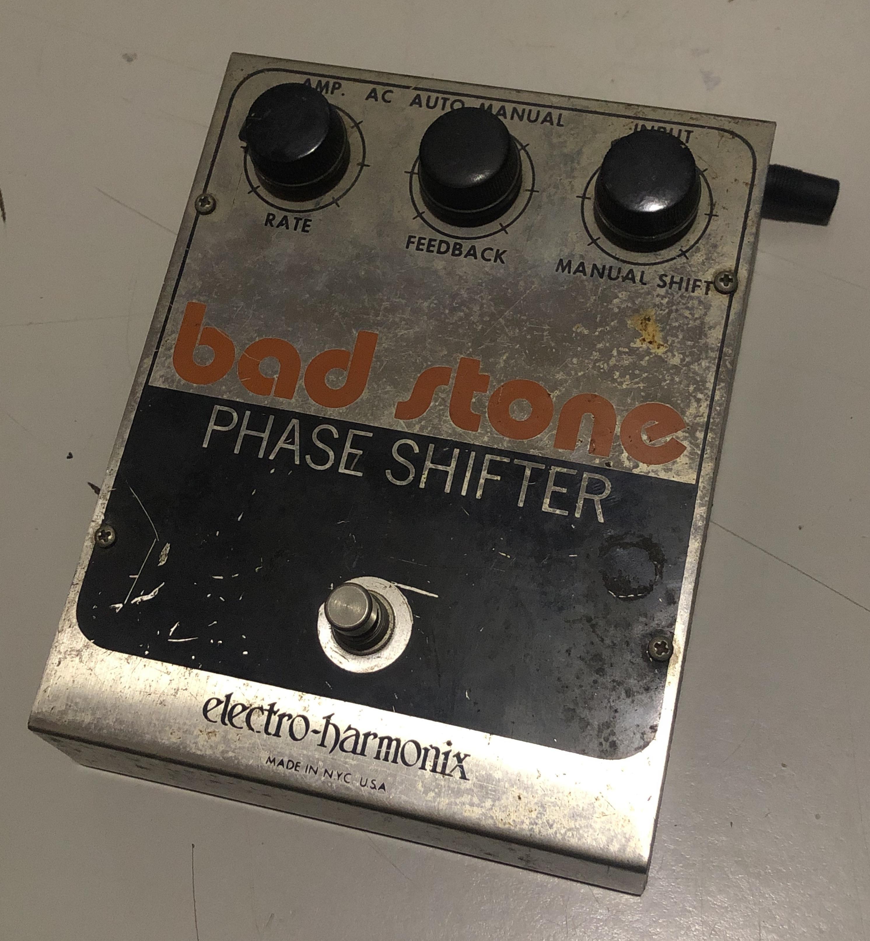 ELECTRO-HARMONIX - Bad Stone Phase Shifter Pedal *70's Vintage*