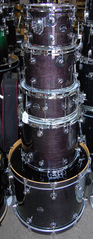 DW Drum Workshop Performance Series Shell Pack - Kick, Snare, 3 Toms - Drum Set Kit