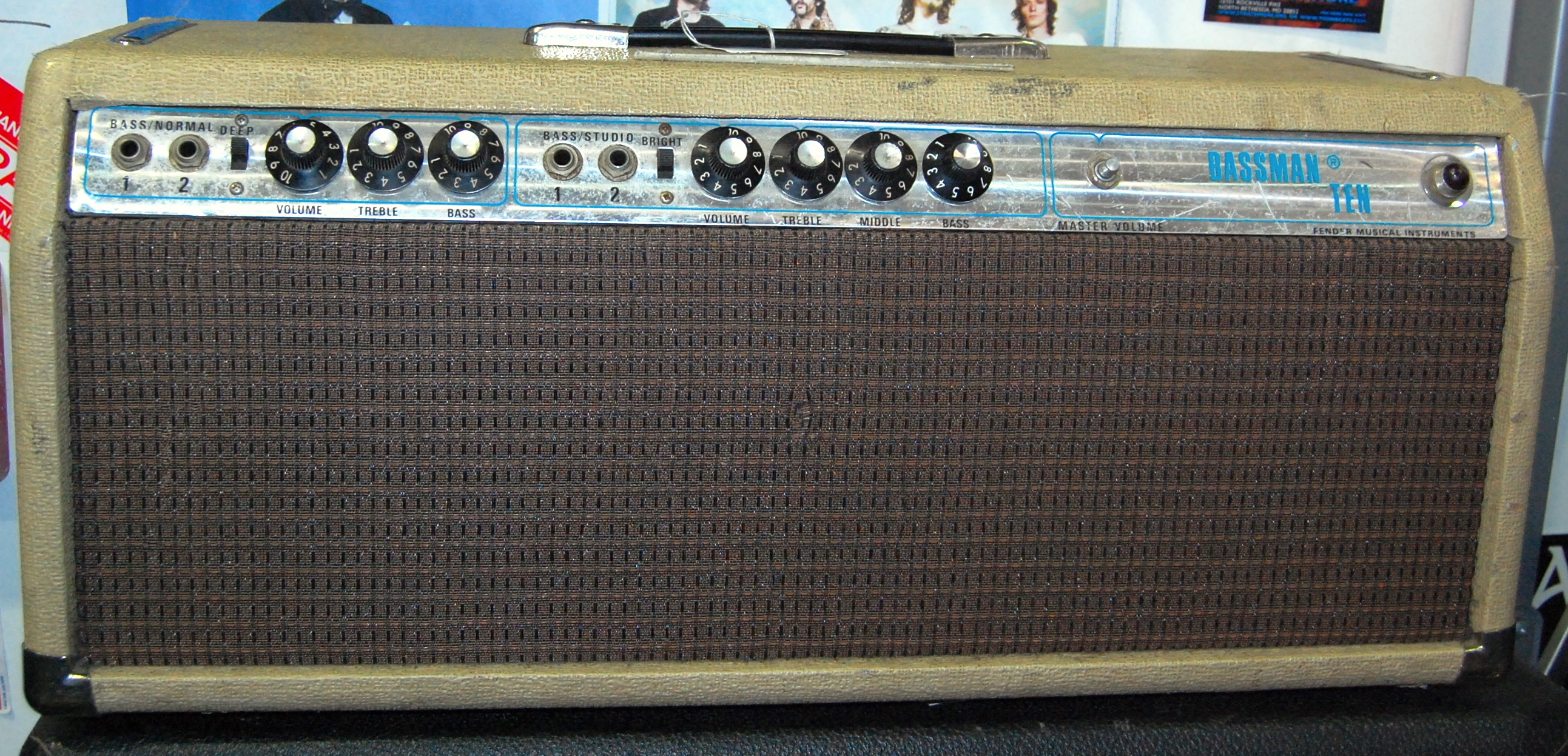 Vintage FENDER BASSMAN TEN 10 Bass Man Tube Guitar Amplifier Amp Head