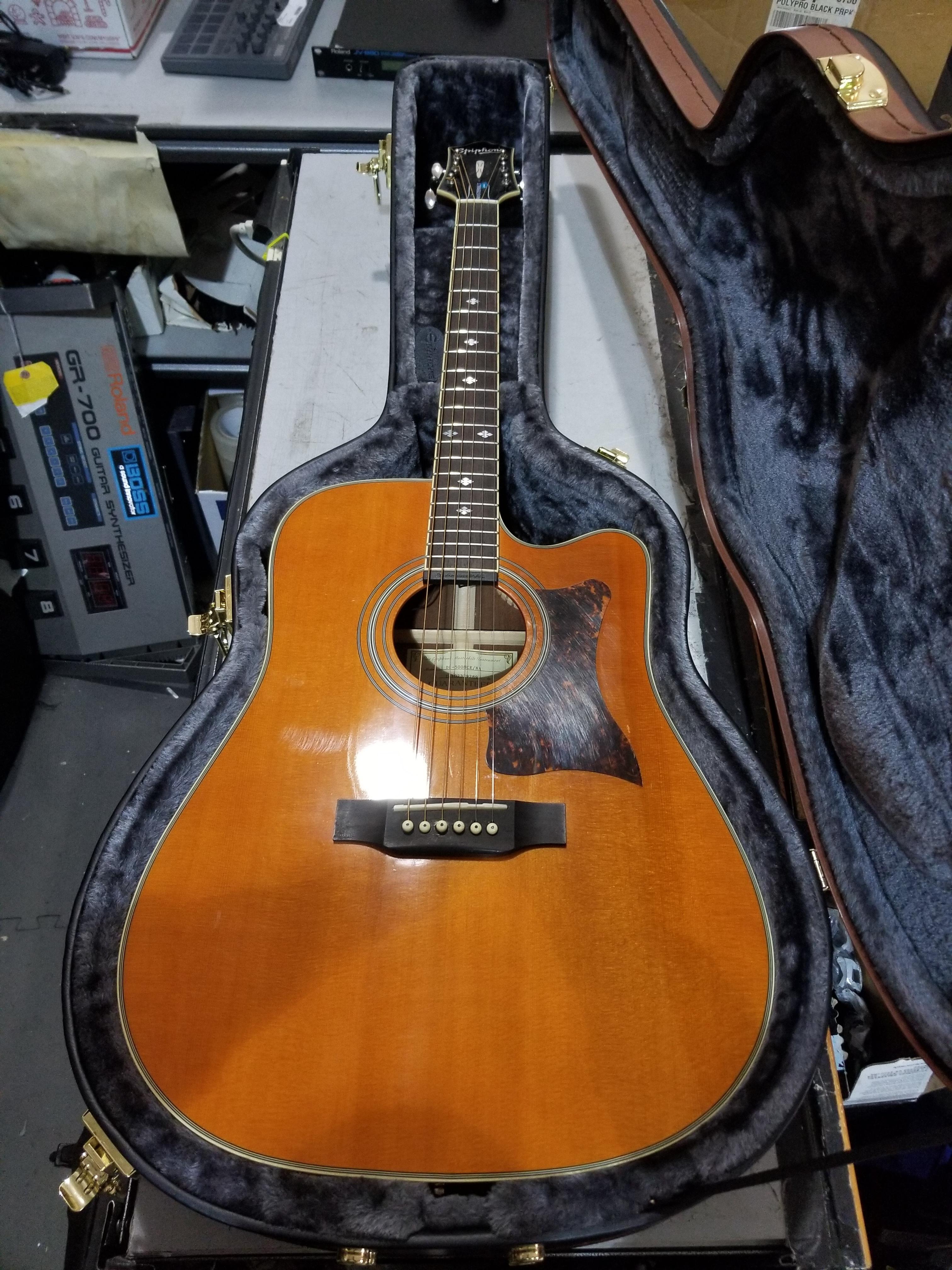 EPIPHONE Masterbilt DR-500MCE Acoustic Guitar HSC Natural