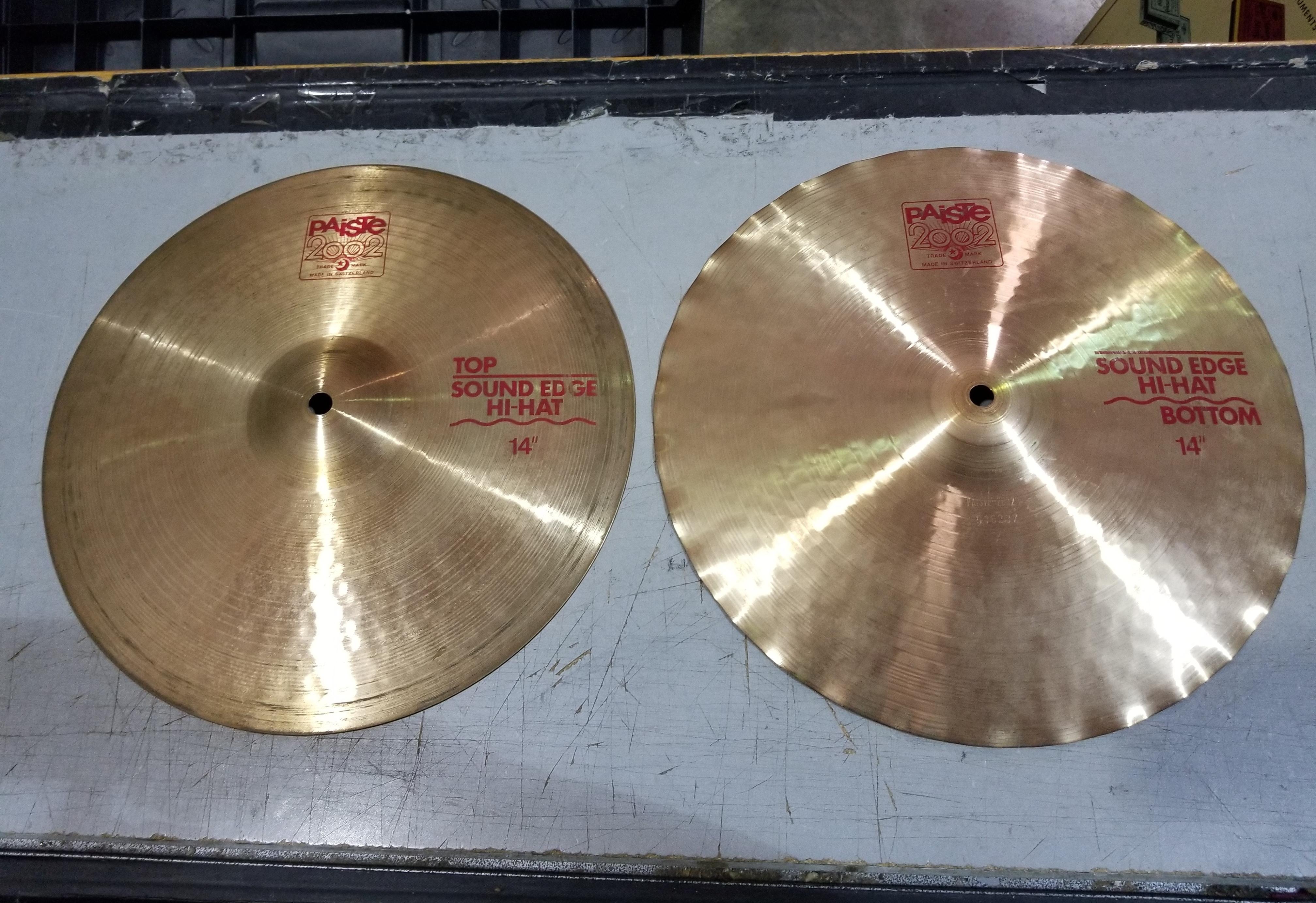 PAISTE 2002 Sound Edge Hi-Hat Cymbals Pair 14
