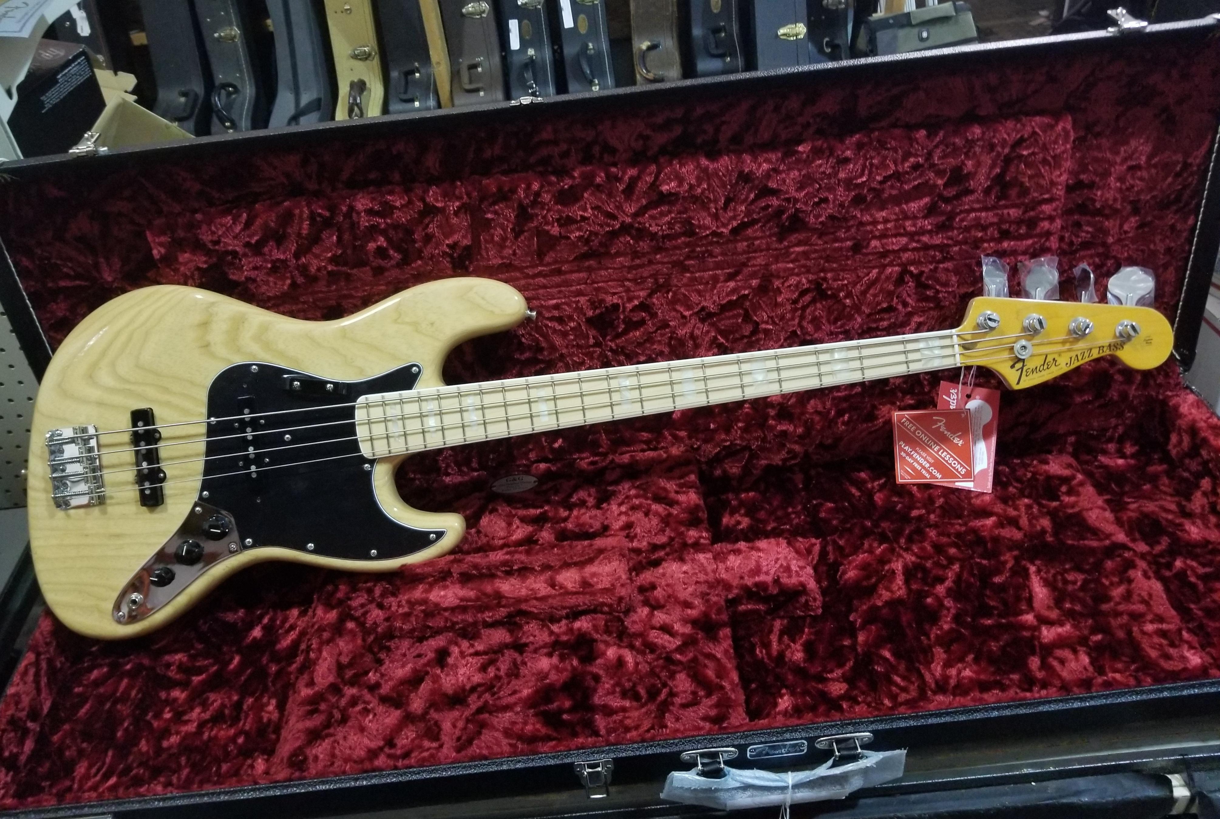 FENDER American Original '70s Jazz Bass HSC Natural Finish