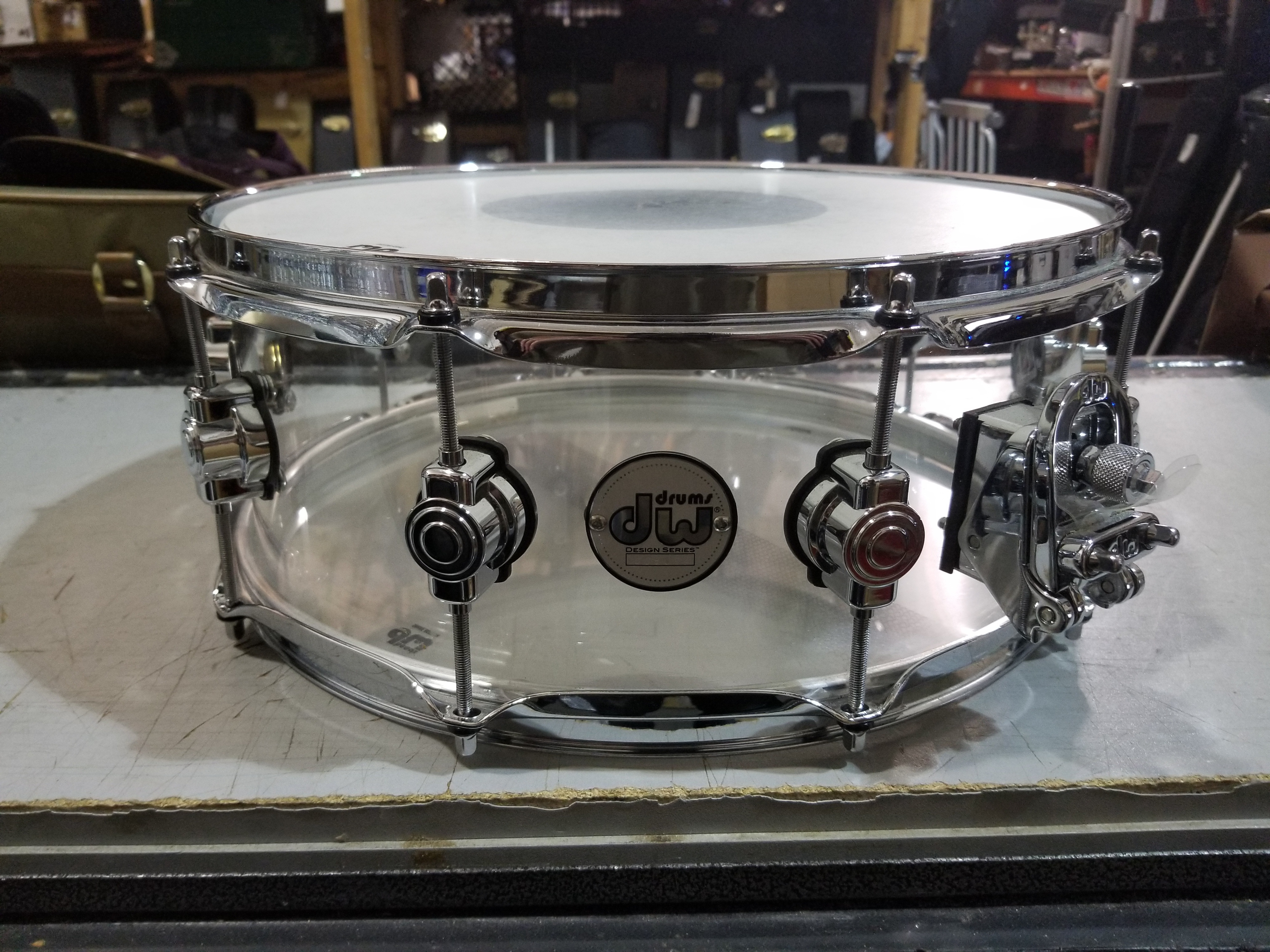 DW Design Series Clear Acrylic Snare Drum 5.5