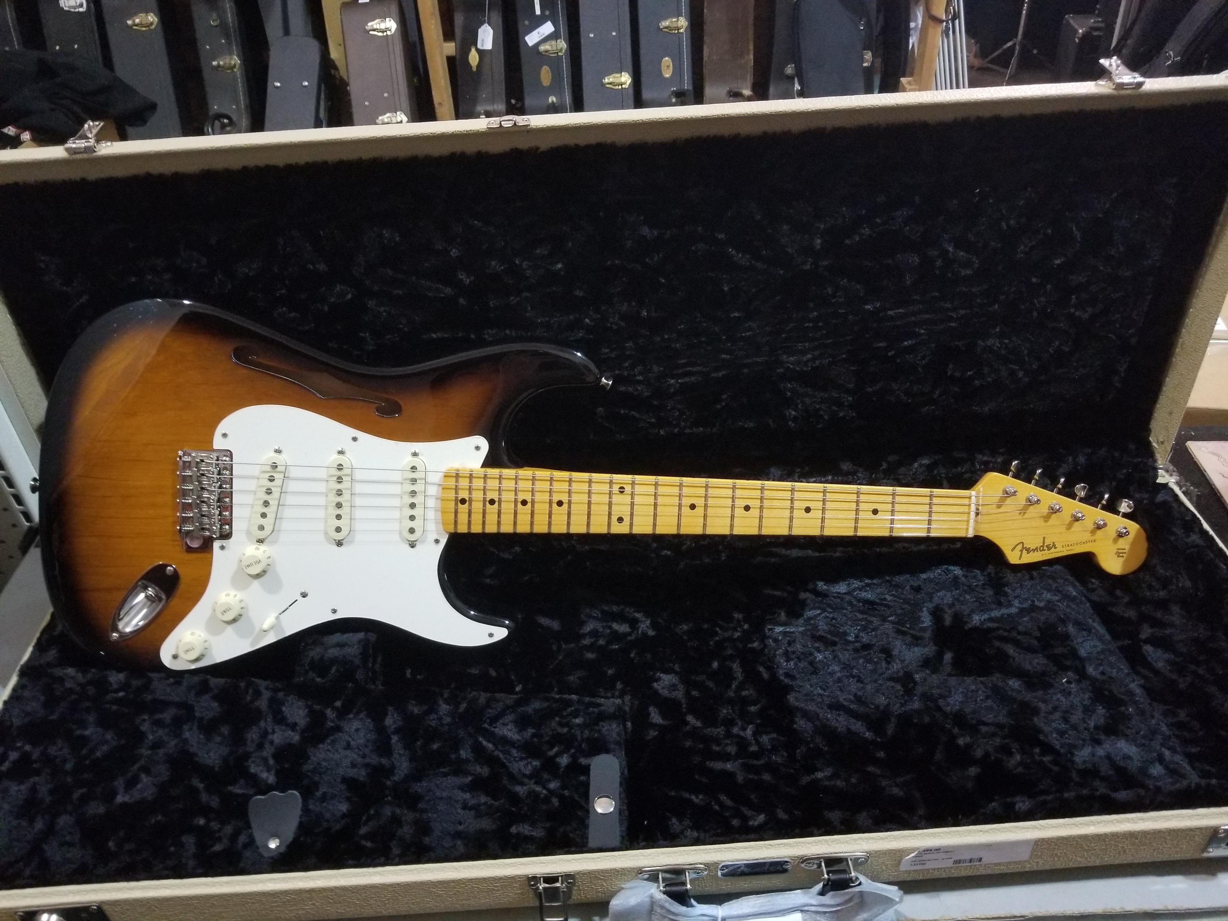 FENDER Eric Johnson Thinline Stratocaster Electric Guitar HSC 2-Color Sunburst
