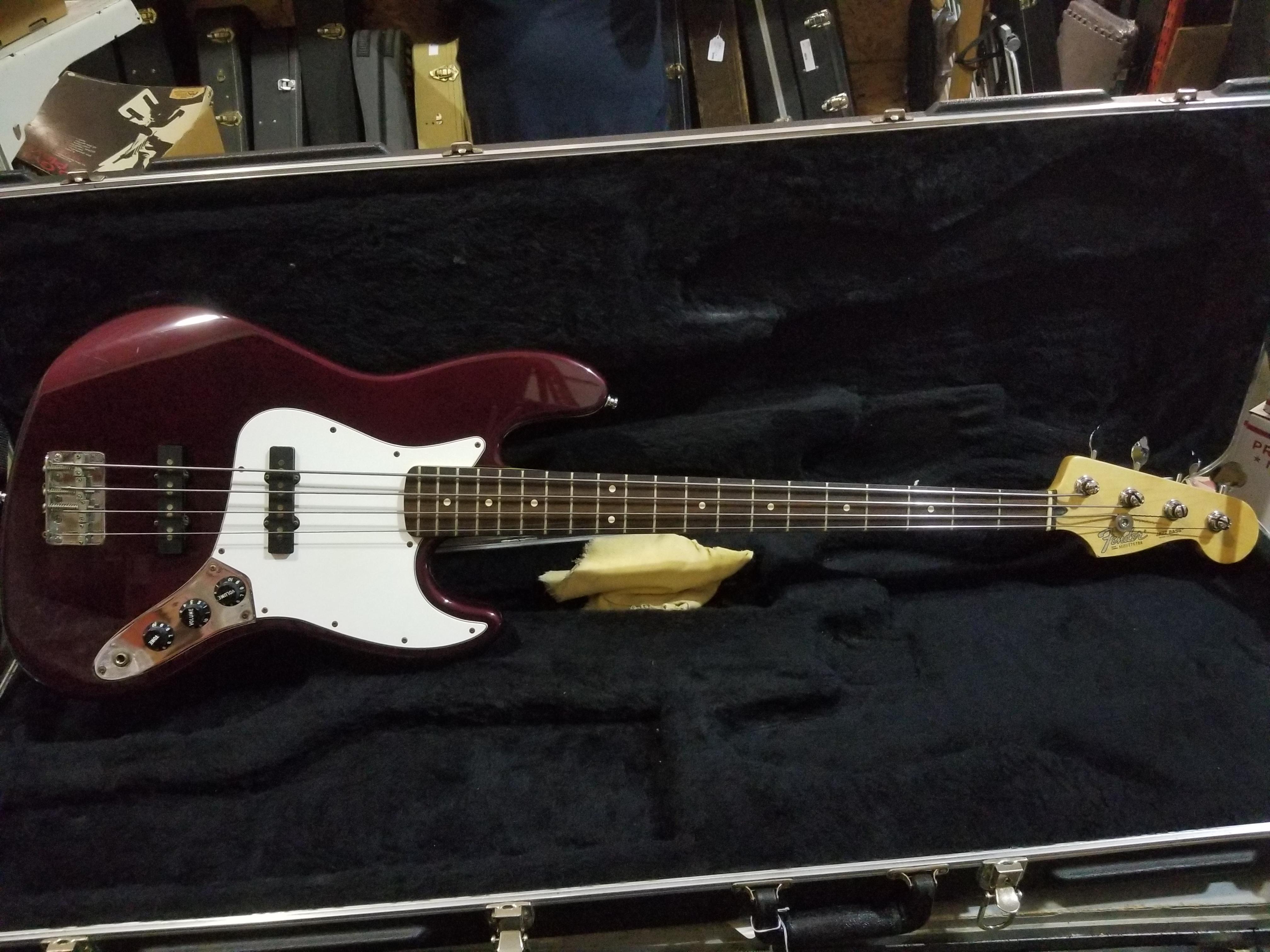 FENDER Jazz Bass Electric Bass Midnight Wine MIM HSC 2000