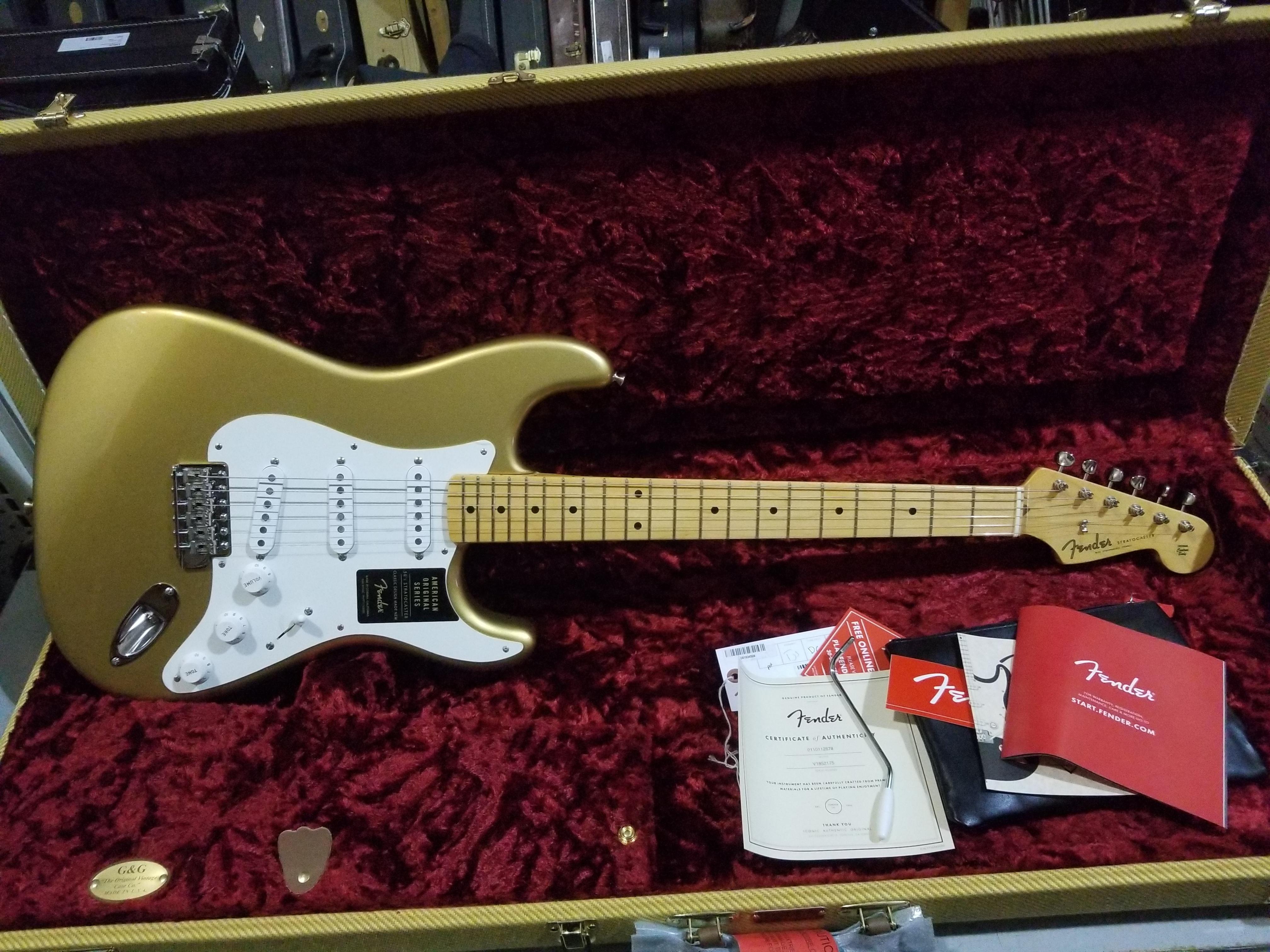 FENDER American Original Series '50s Stratocaster Electric Guitar Aztec Gold HSC