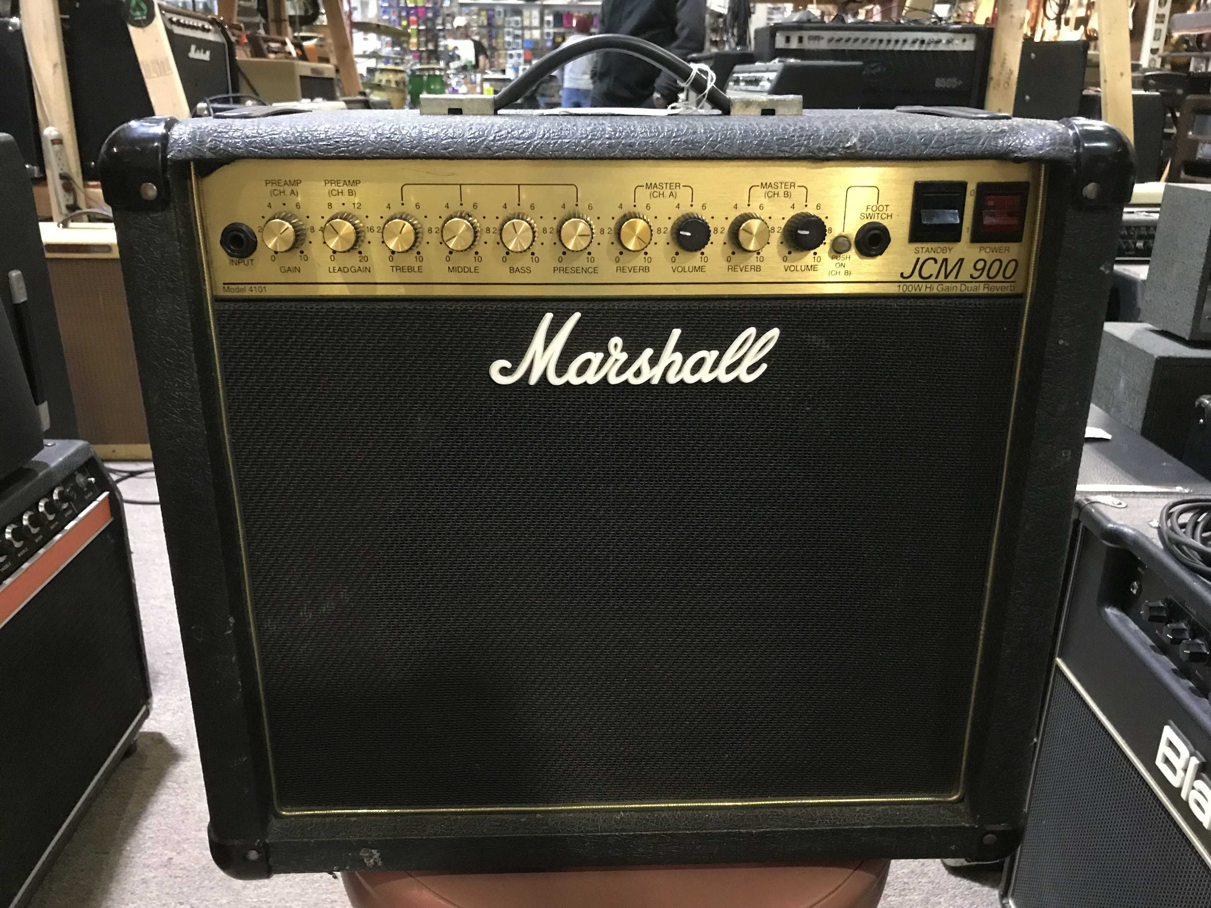 MARSHALL JCM 900 Model 4101 100W 1X12 Hi Gain Dual Reverb Tube Guitar Combo Amp