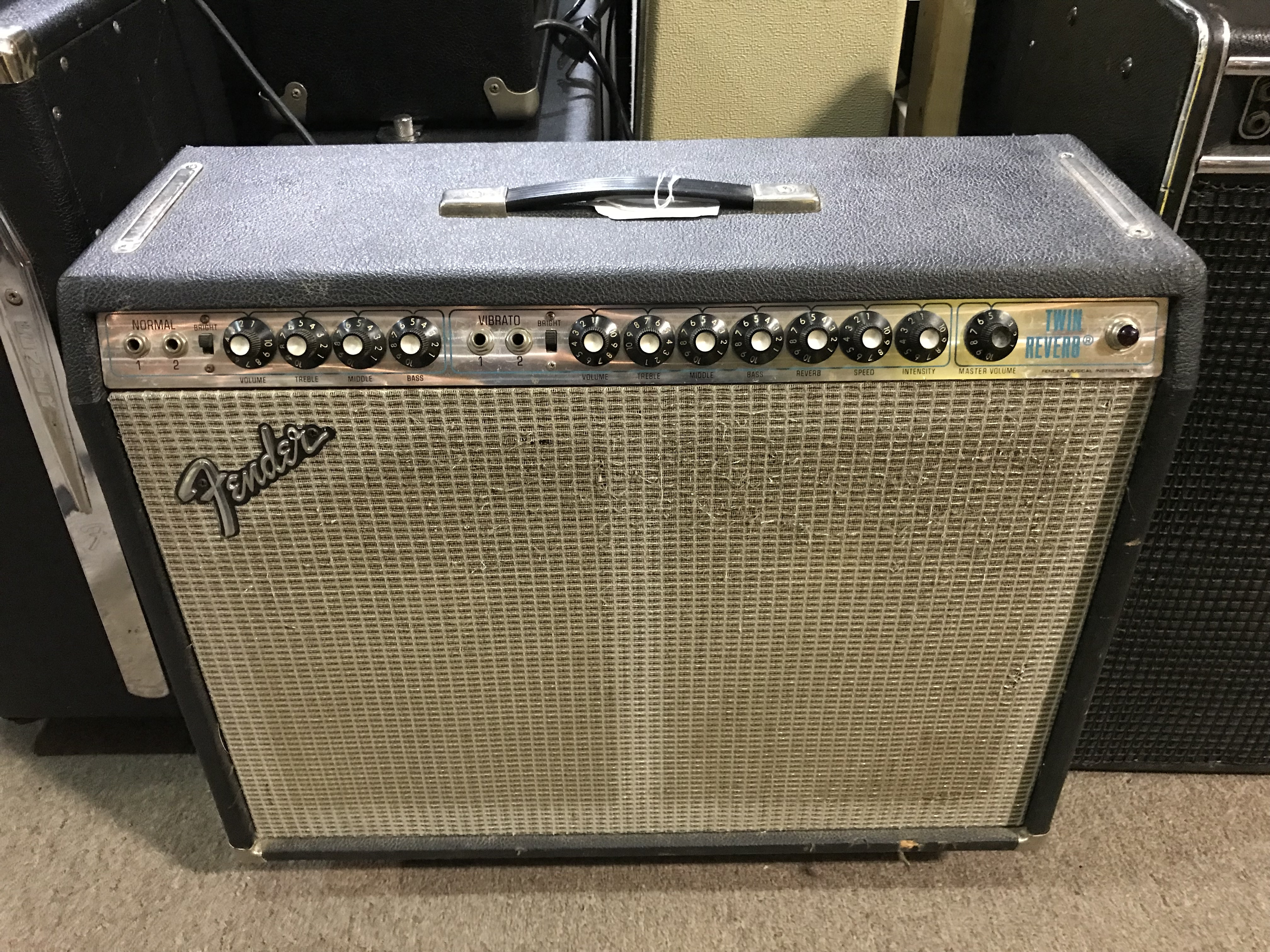 FENDER TWIN REVERB 1974 Silverface 100W 2X12 Tube Guitar Combo Amp LOCAL PICKUP