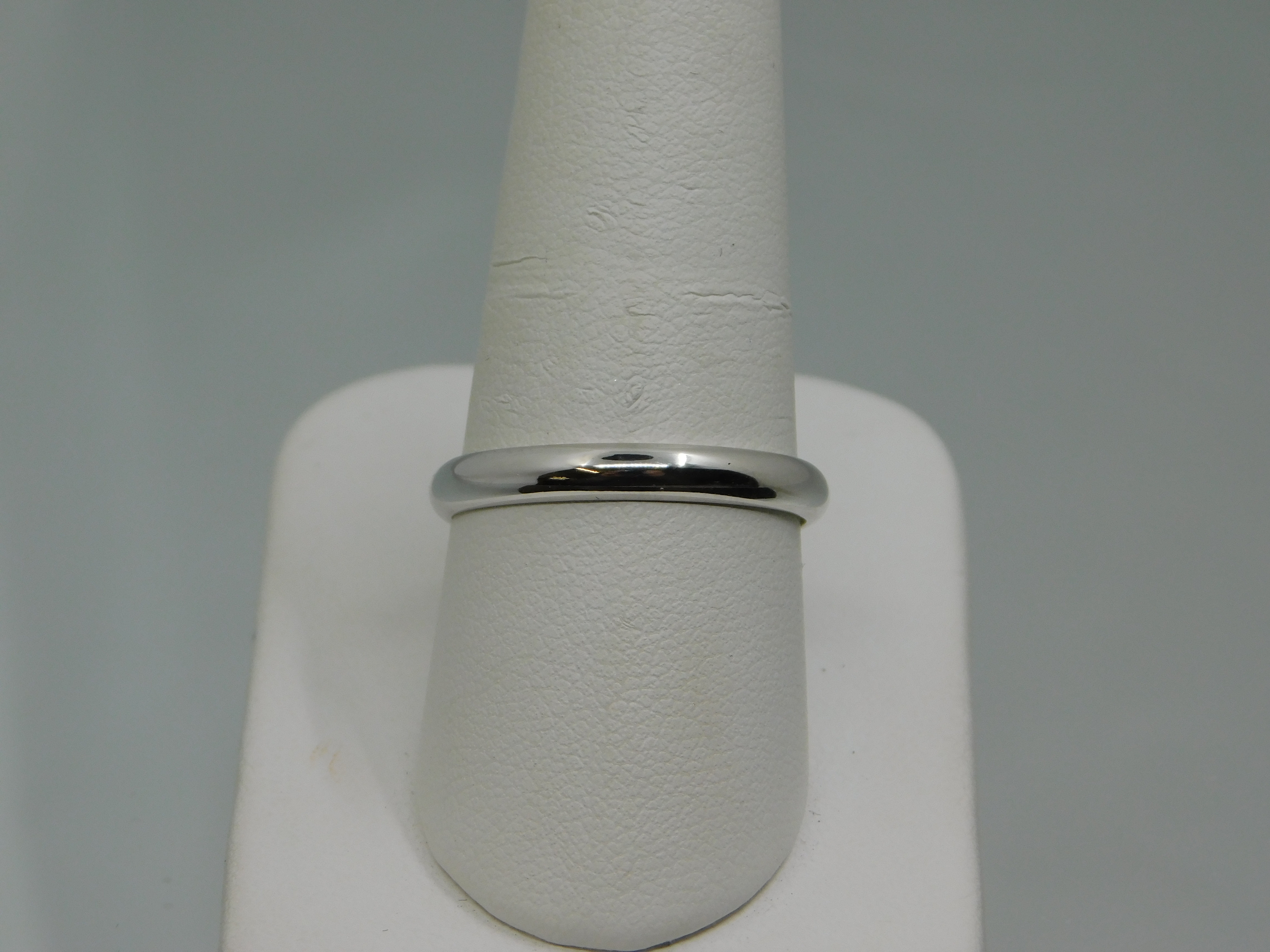 PLAIN 3 MM WHITE GOLD BAND