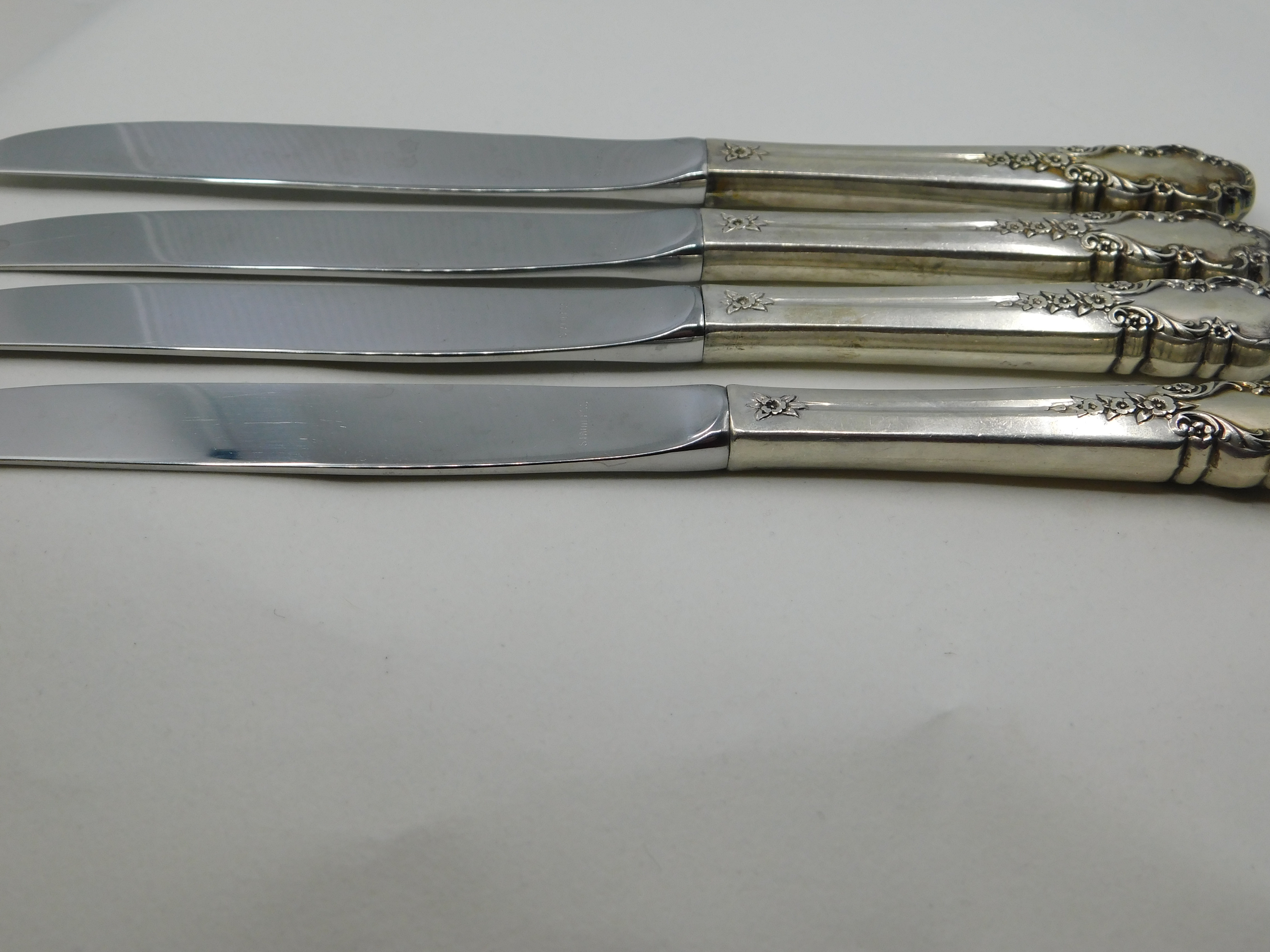 ROGERS STERLING SILVER BRIDAL VEIL COLLECTION DINNER KNIVES