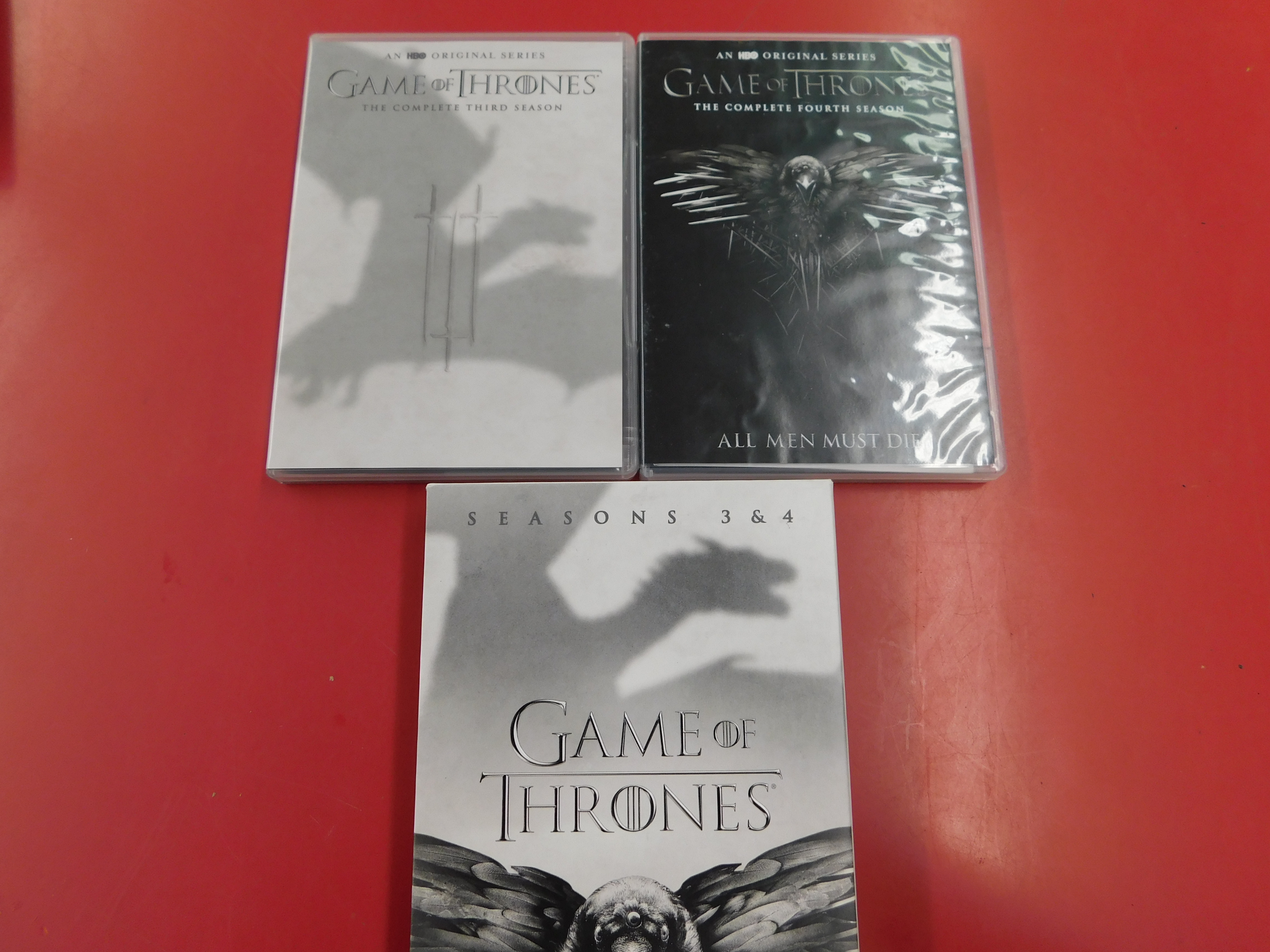 GAME OF THRONES DVD COMPLETE THIRD AND FOURTH SEASON