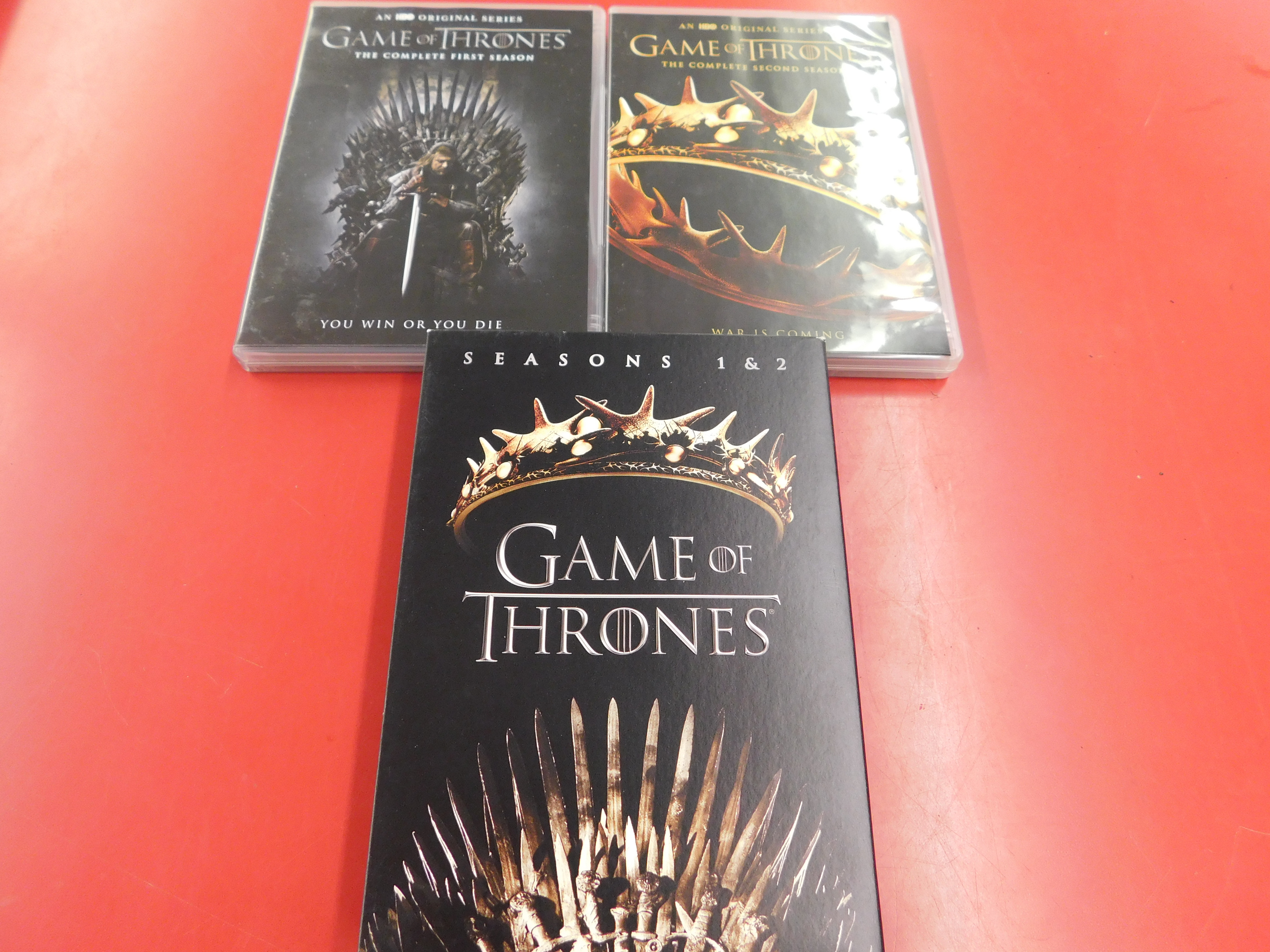 GAME OF THRONES DVD COMPLETE FIRST AND SECOND SEASON