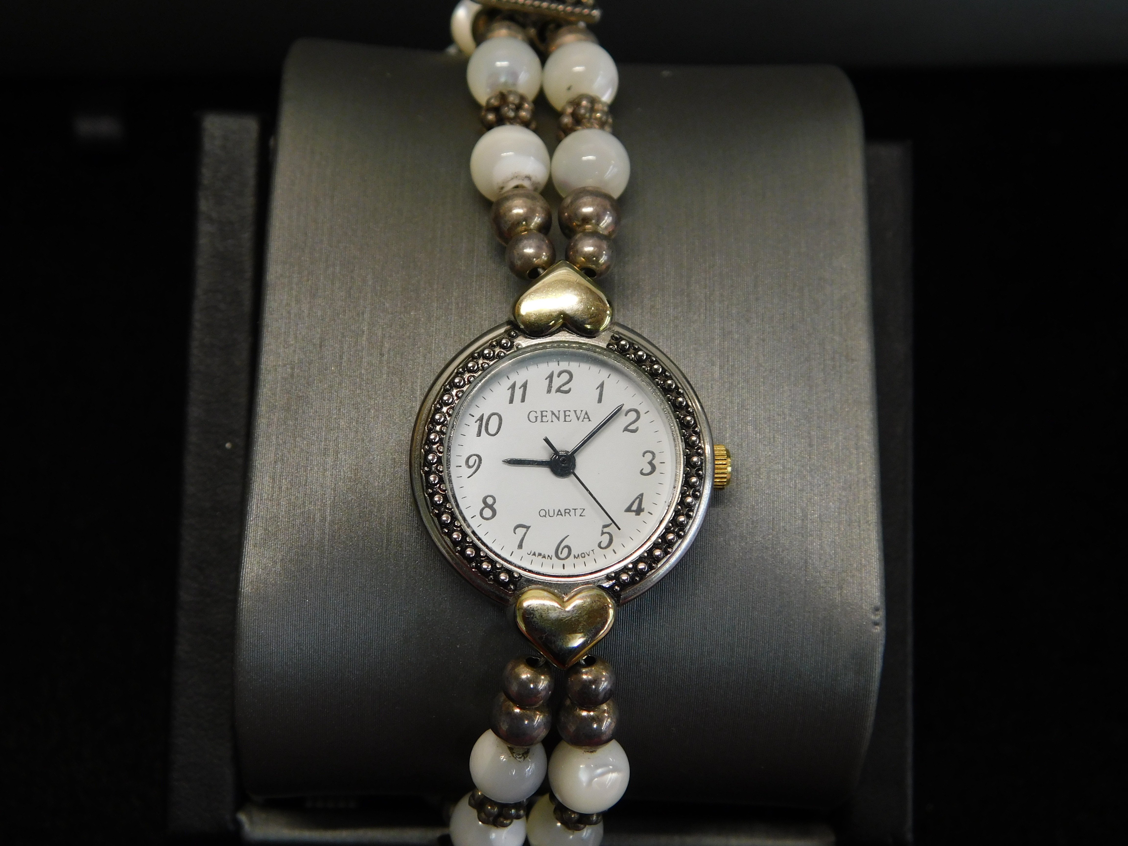 GENEVE WATCH WITH BEADED BAND