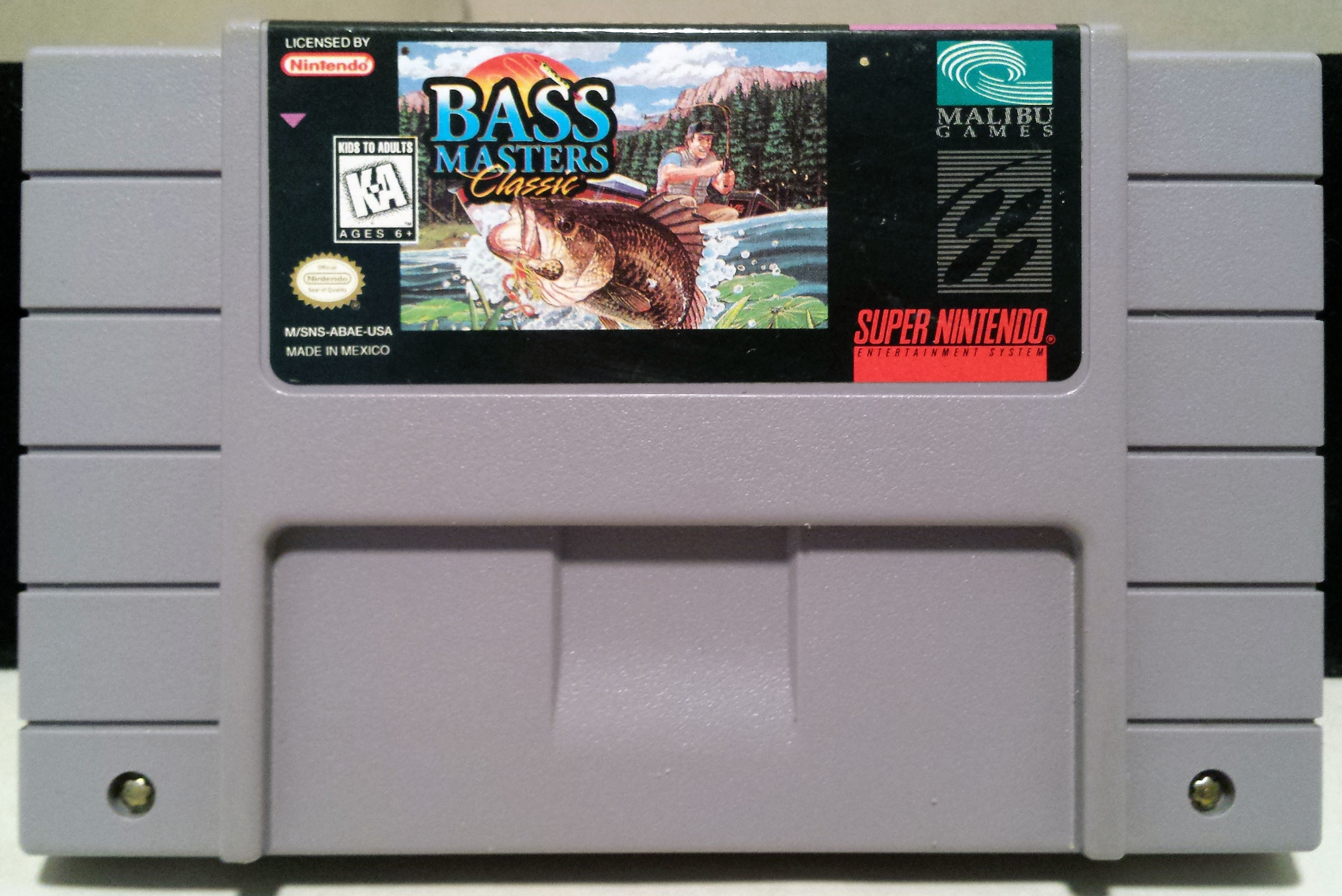 SNES Bass Masters Classic (1996 Super Nintendo) -CART ONLY