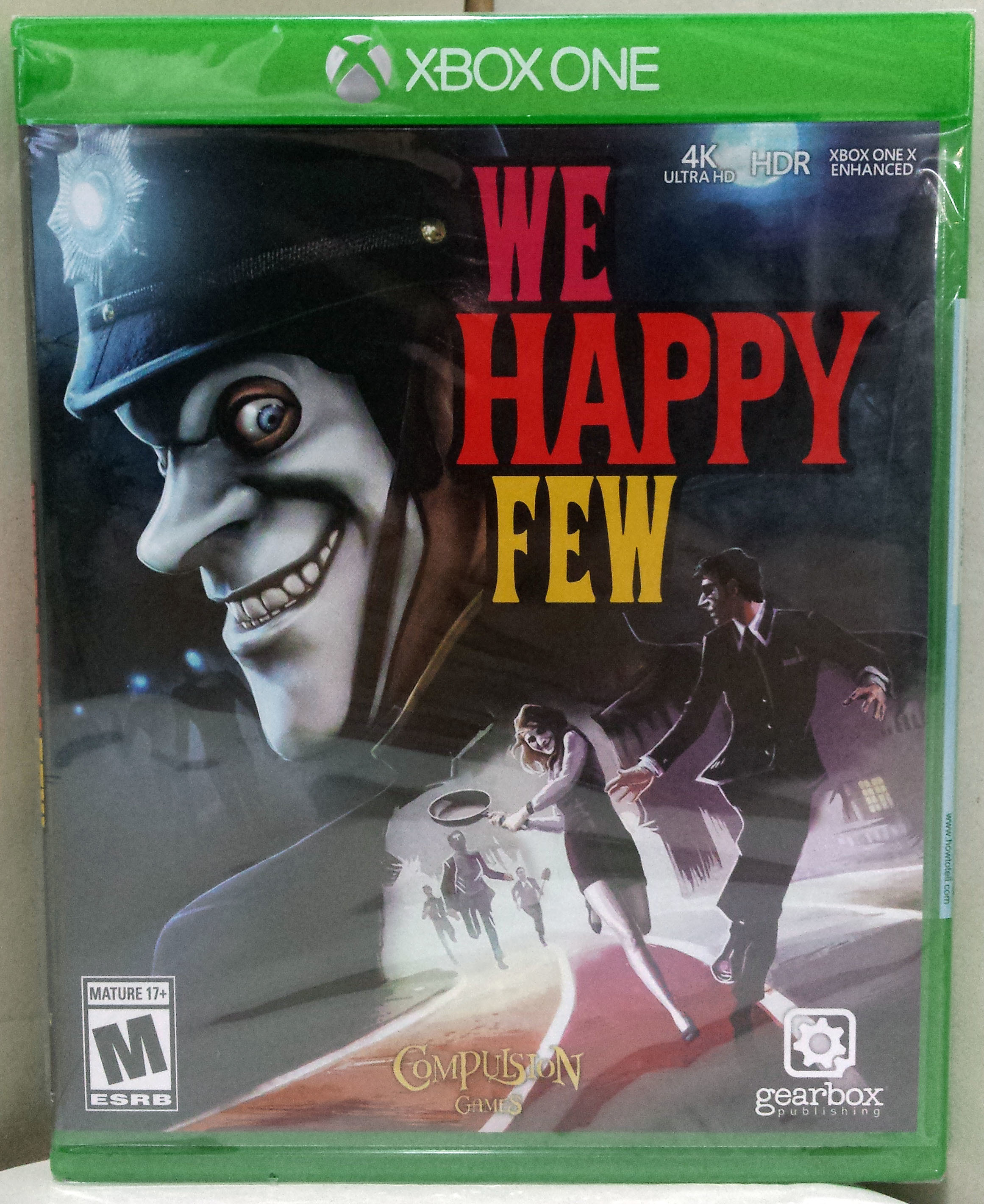 We Happy Few (Microsoft Xbox One, 2018) Brand New Factory Sealed, Free Shipping