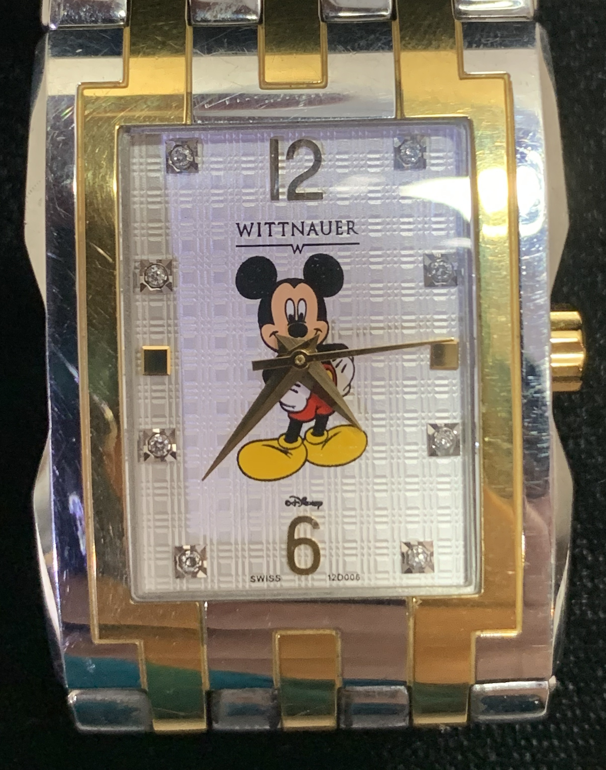 Wittnauer Men's Two Tone Disney Watch - Mickey Mouse - Stainless Steel