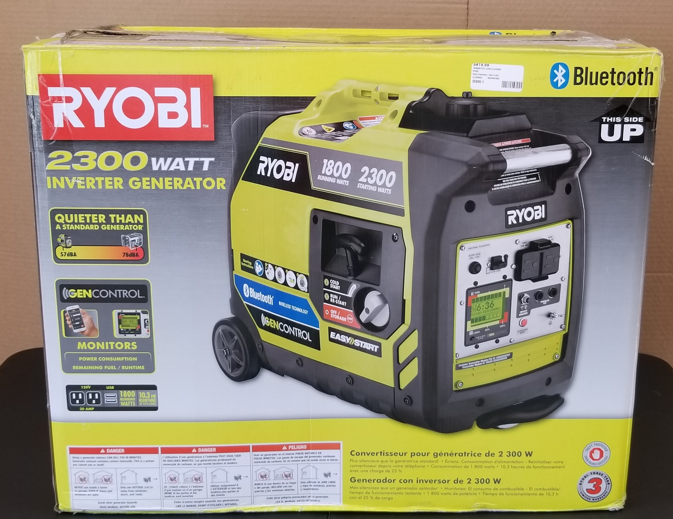 Ryobi 2300 Watt Inverter Generator/Bluetooth