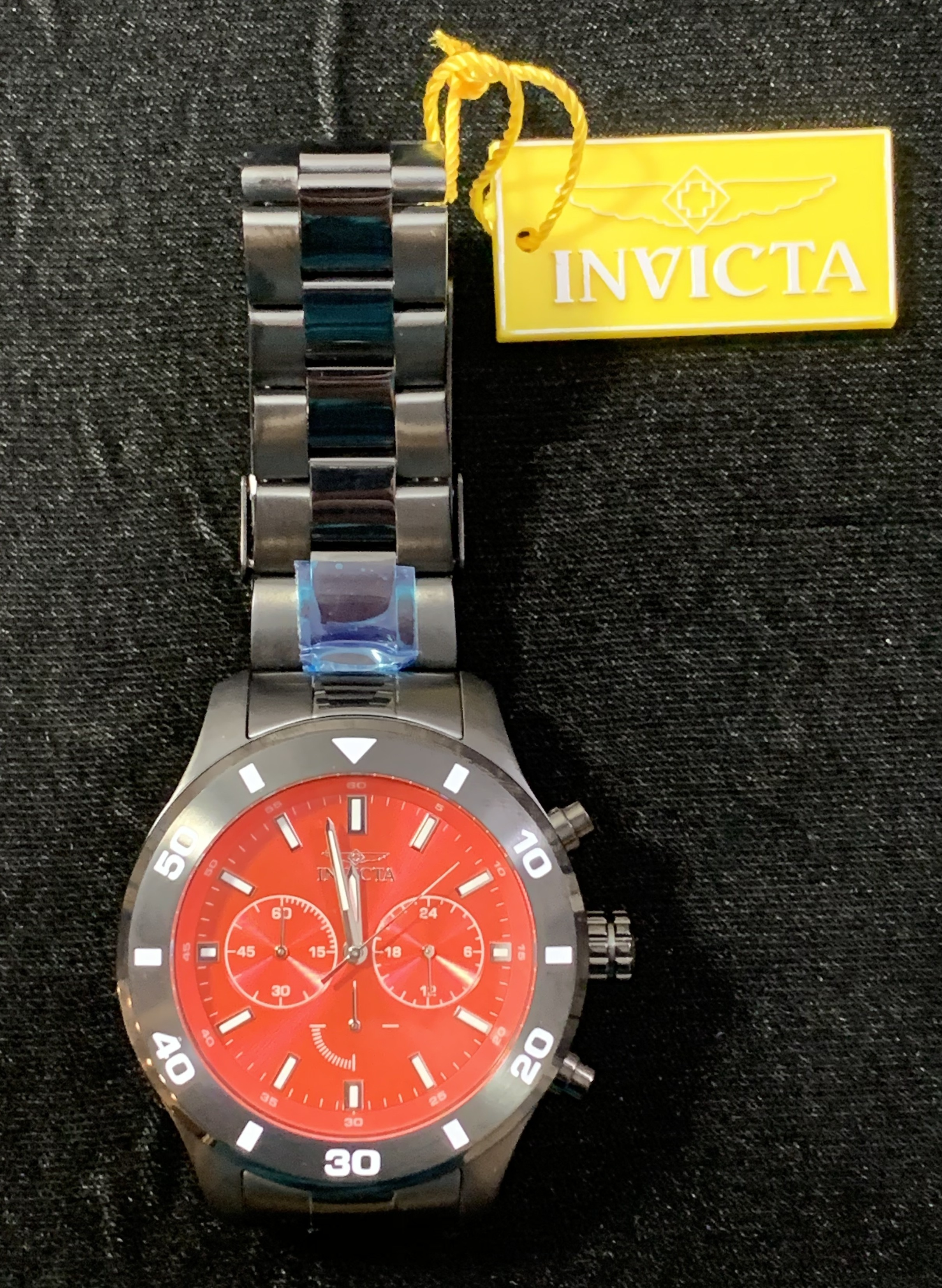 Invicta Specialty Men's Quartz 48mm Black Case Red Dial - Model 28891