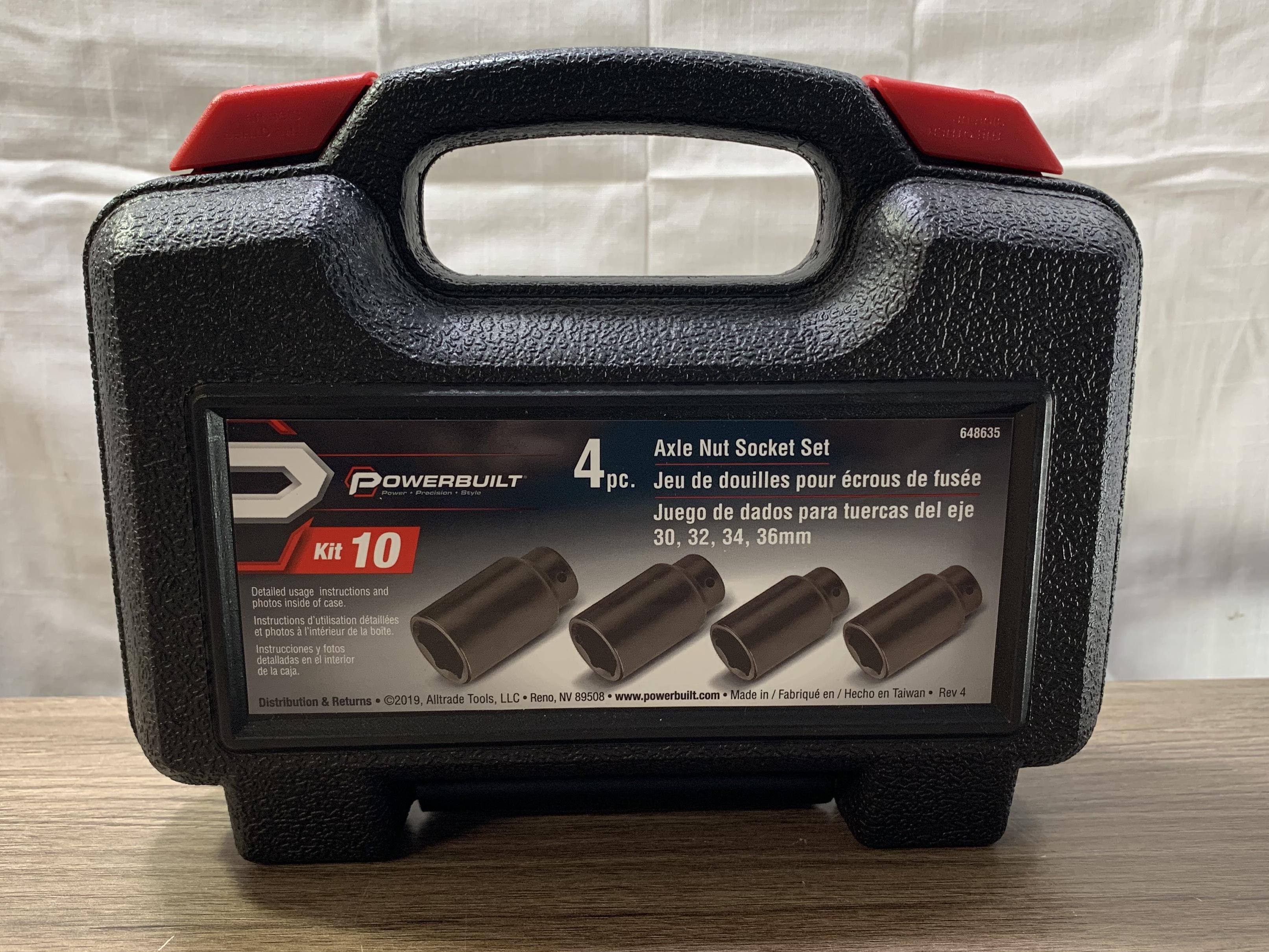 Powerbuilt 648635 Axle Nut Socket Kit