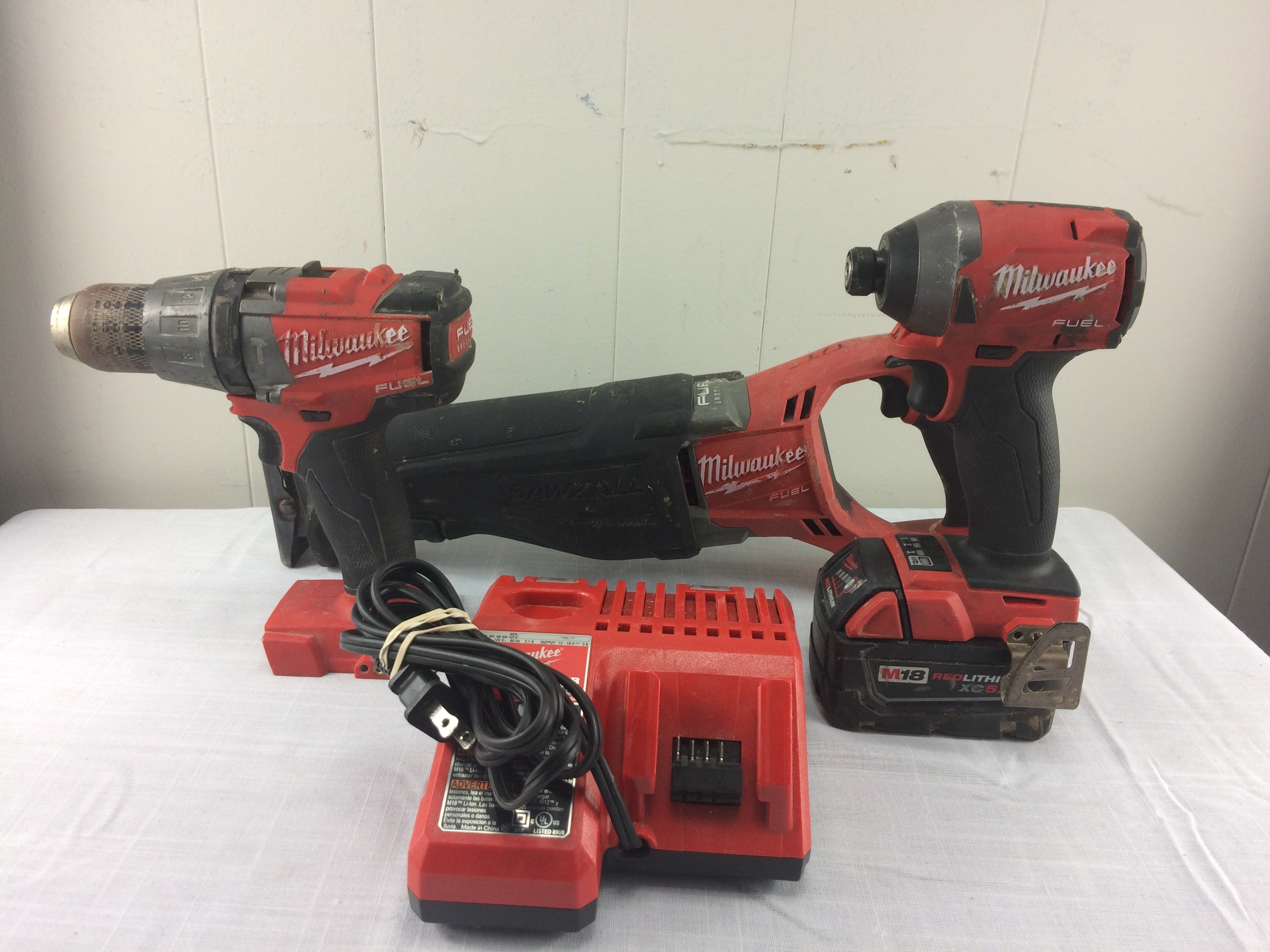 Milwaukee Power Tool Set - Brushless Driver, Impact and Sawzall