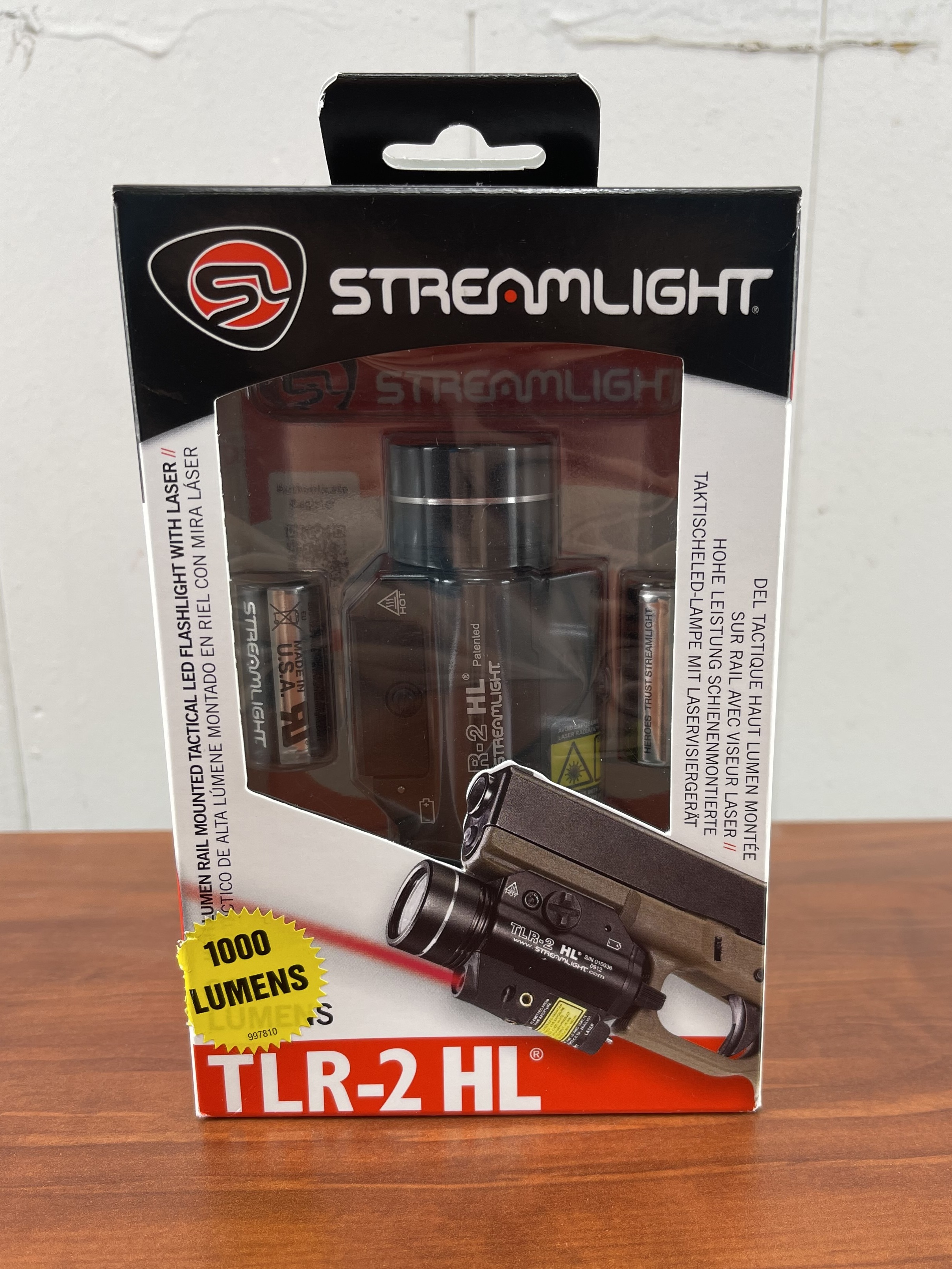 StreamLight TLR-2 HL LED High Lumen Rail Mounted Flashlight With Red Laser