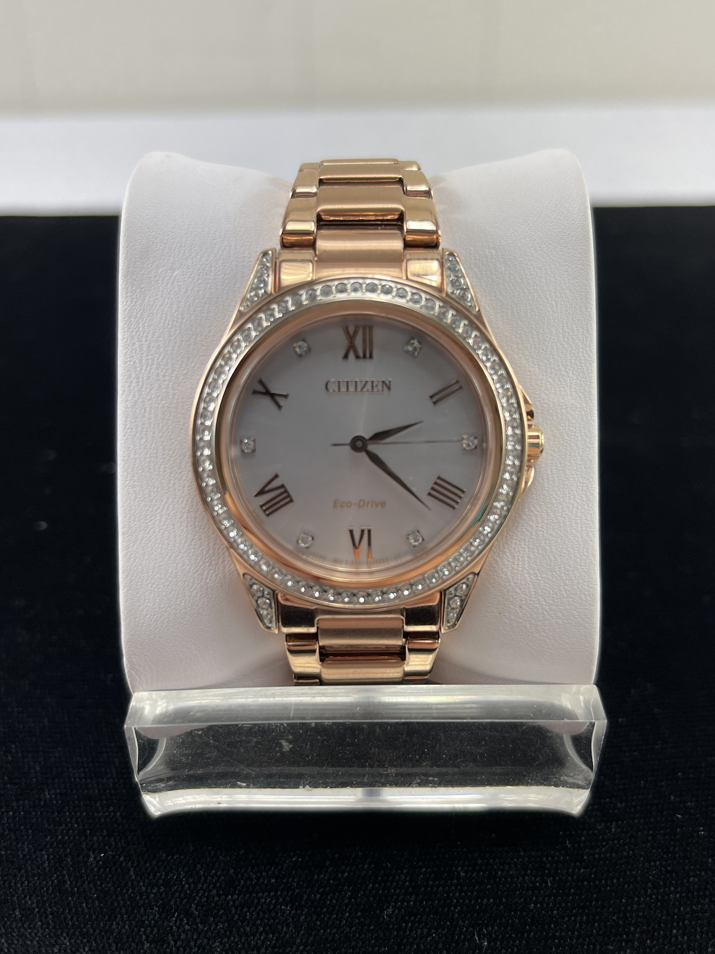 Citizen Women's Watch FE6113-57X Eco Drive 34mm Rose Gold Tone Stainless Steel