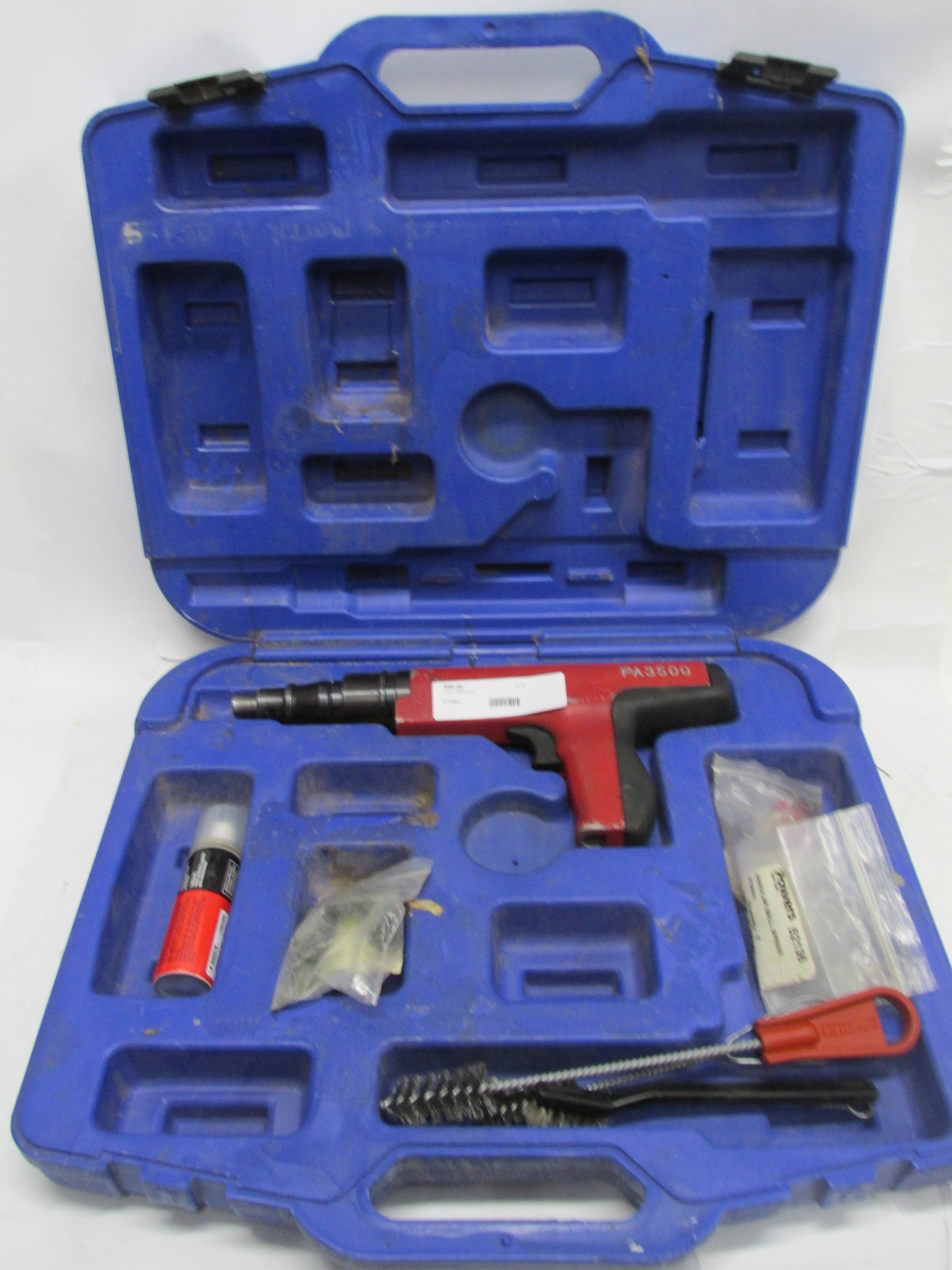 Powers PA3500 Powder Fastener with Cleaning Brushes, Hilti Spray in Hard Case