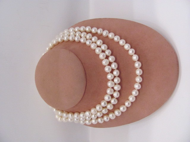 9 mm Round Chinese Pearl Strand Necklace - 24
