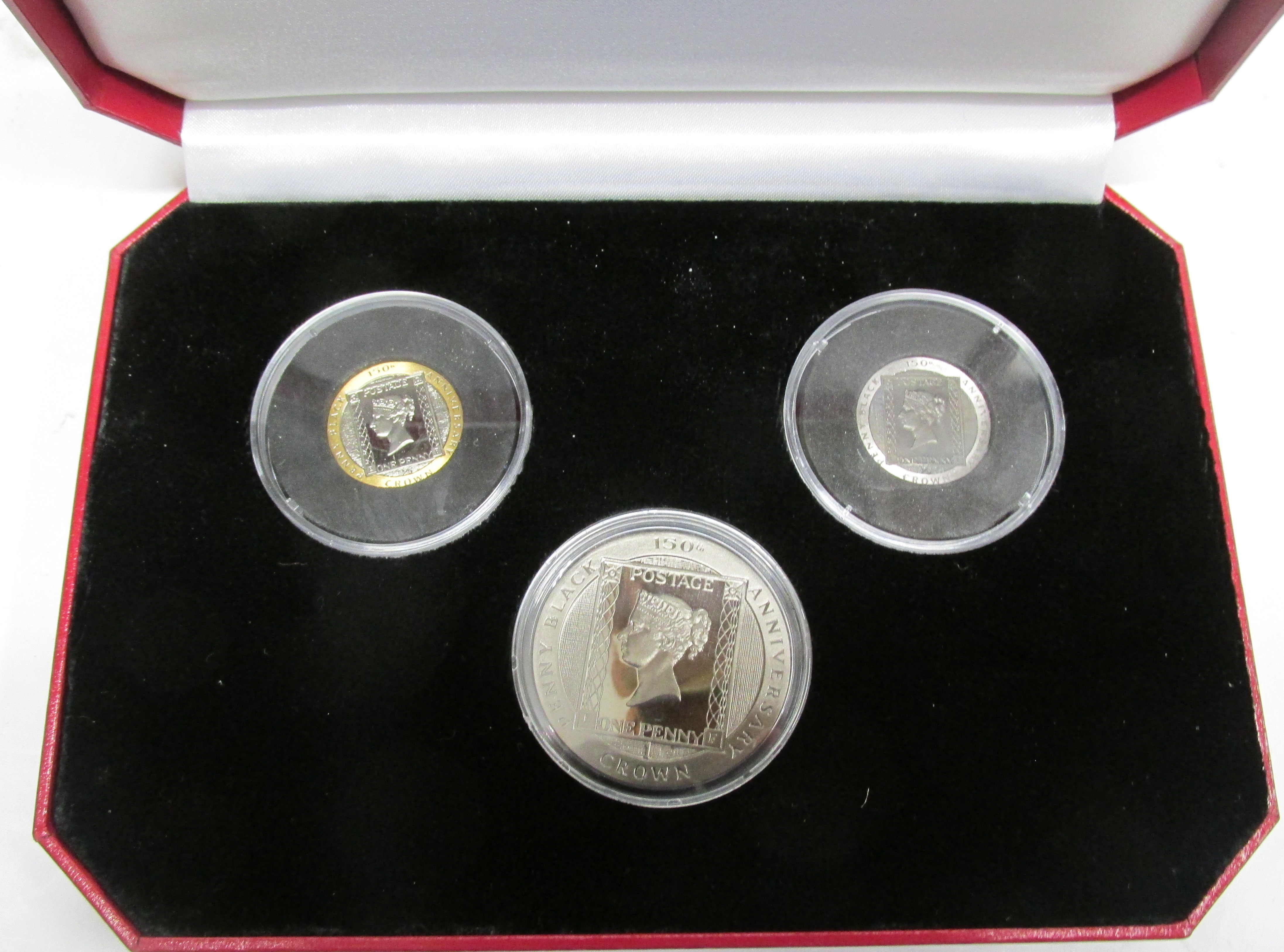Pobjoy Mint Penny Black Tri-Metal 3 Coin Proof Set with COA and Booklet