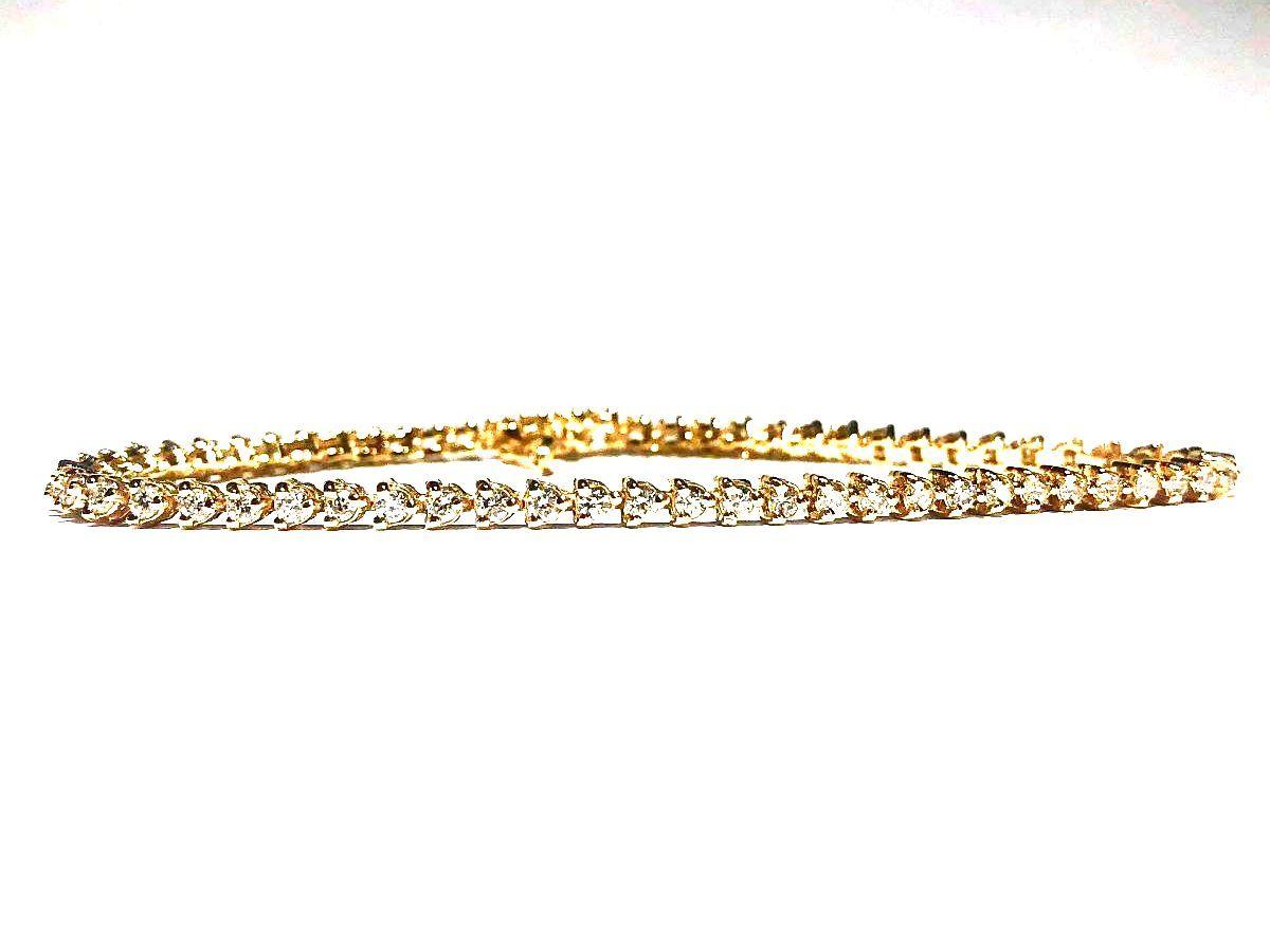 14K Yellow Gold 1.85tcw Diamonds Tennis Bracelet I-12958