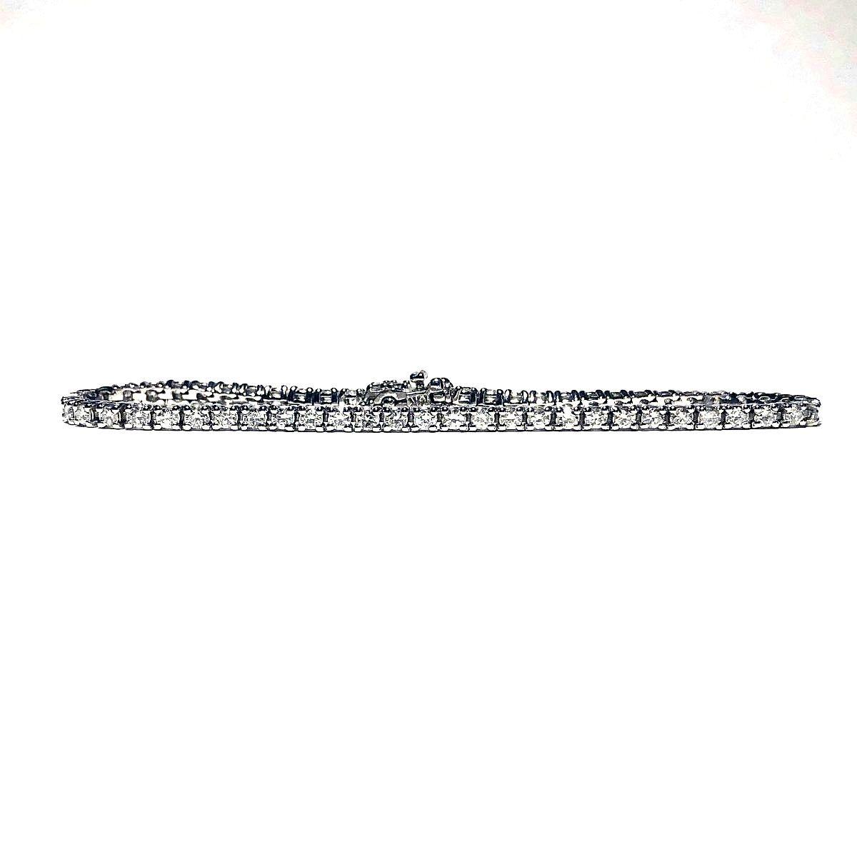14K White Gold 2.25tcw Diamonds Tennis Bracelet I-12962