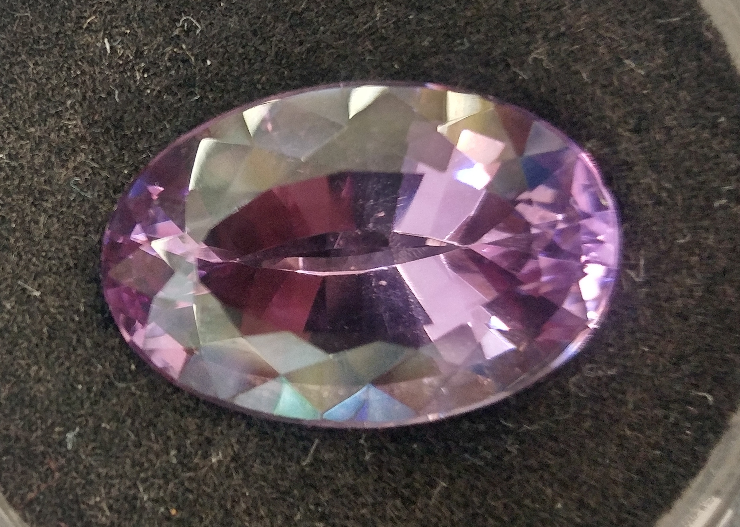 Amethyst Faceted Oval Cut Gemstone - 22.73 Carats