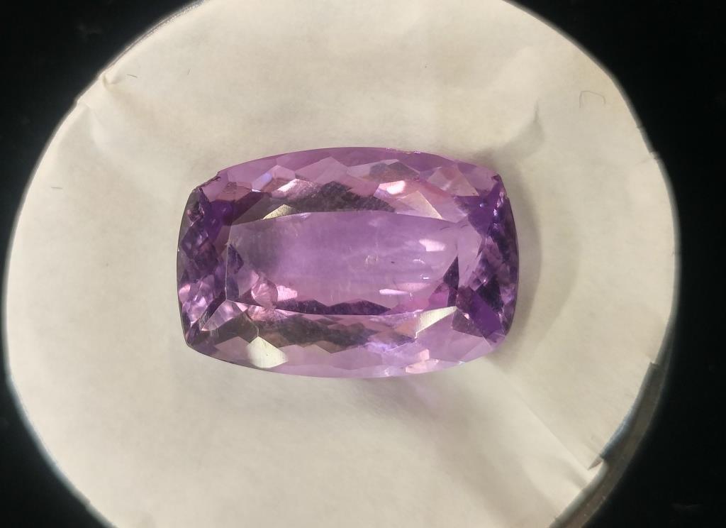 Amethyst Faceted Radiant Cut Gemstone - 18.2 Carats