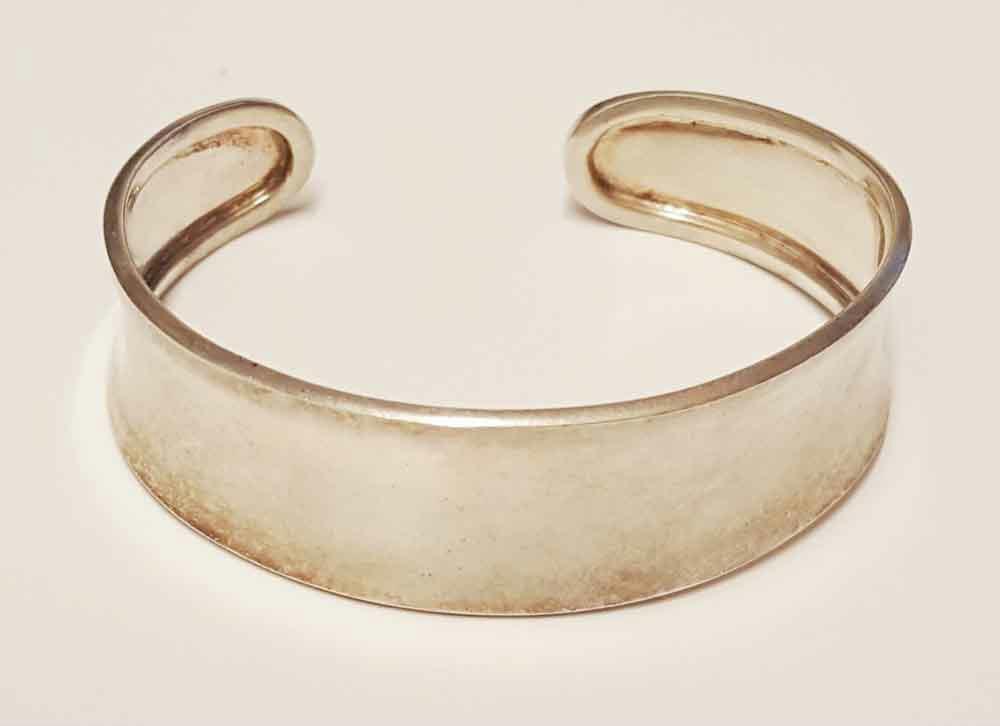 Cuff Bangle Bracelet - Sterling Silver 925 - 2 1/2