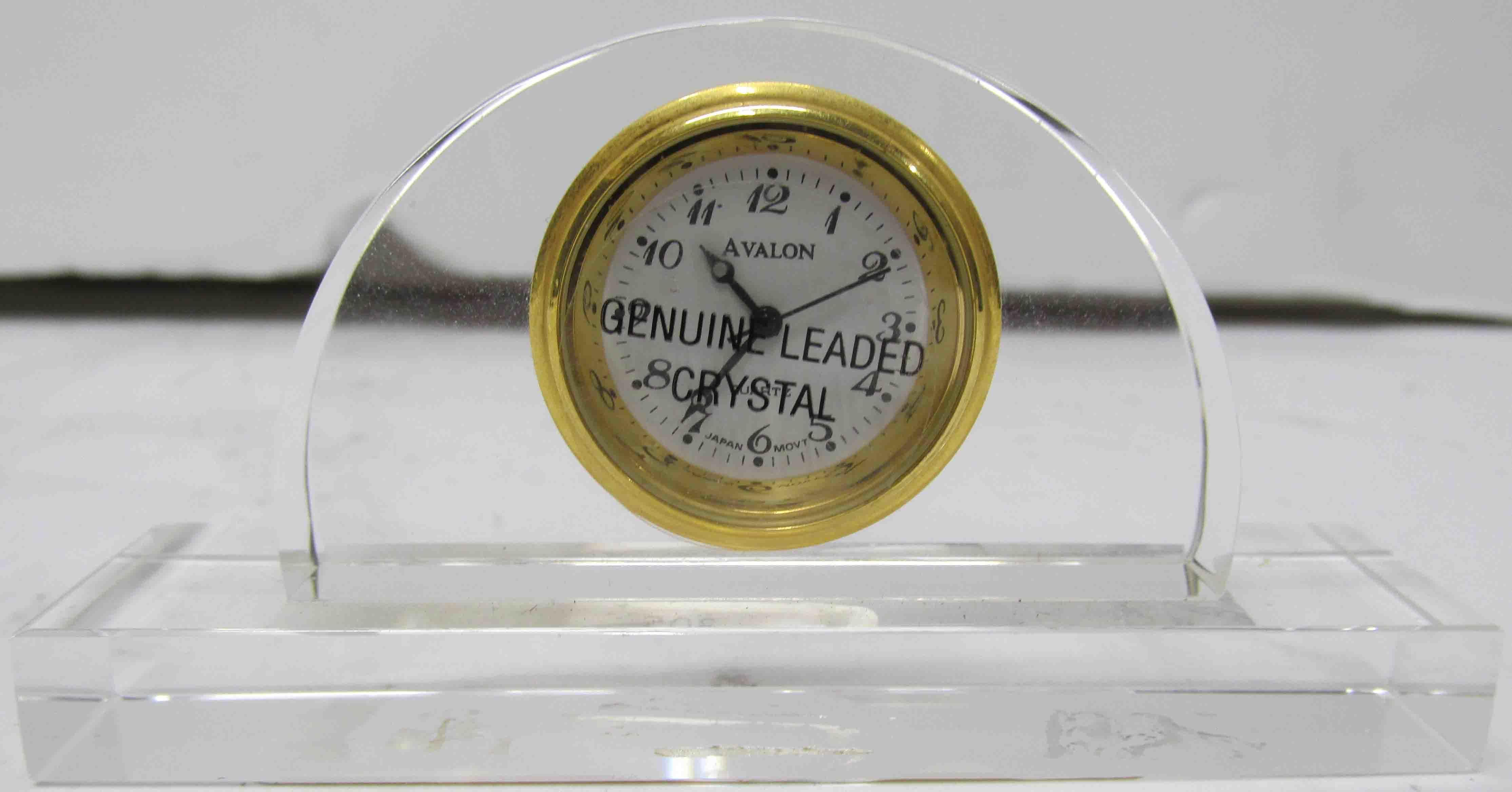 Avalon Crystal Desk Clock