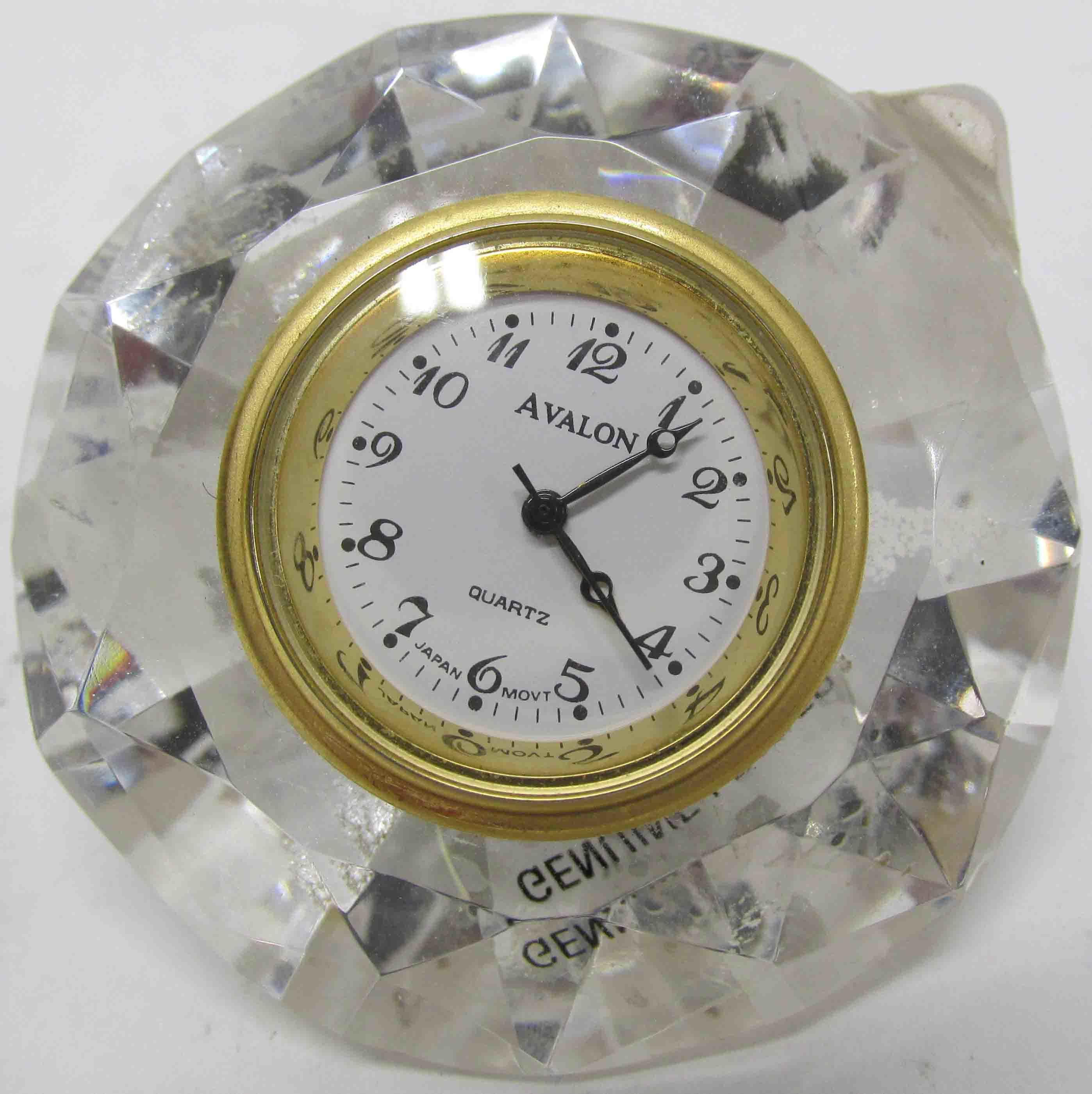 Avalon Crystal Diamond Shaped Desk Clock