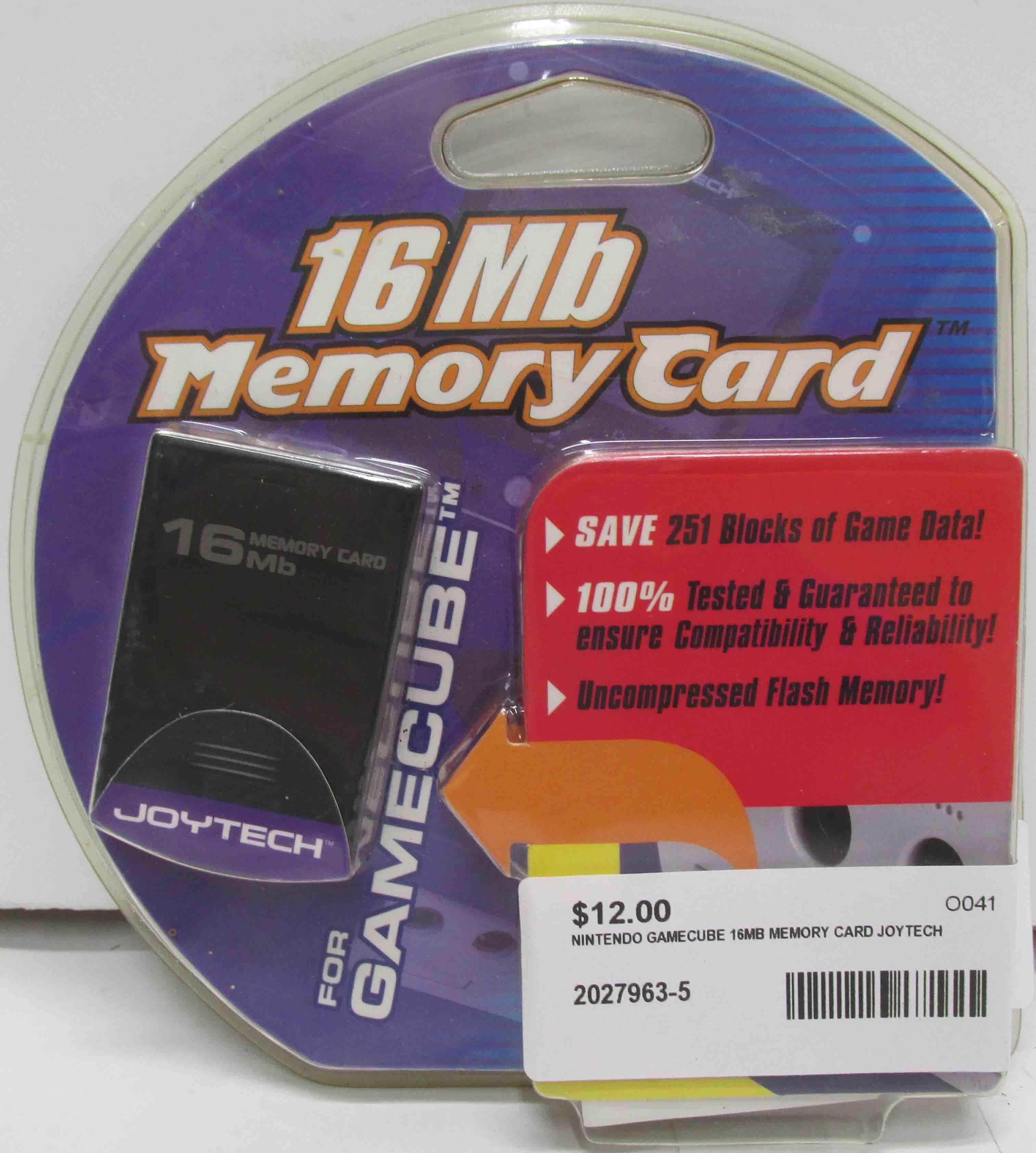 Joytech 16Mb Memory Card for Nintendo Gamecube  - **NEW**